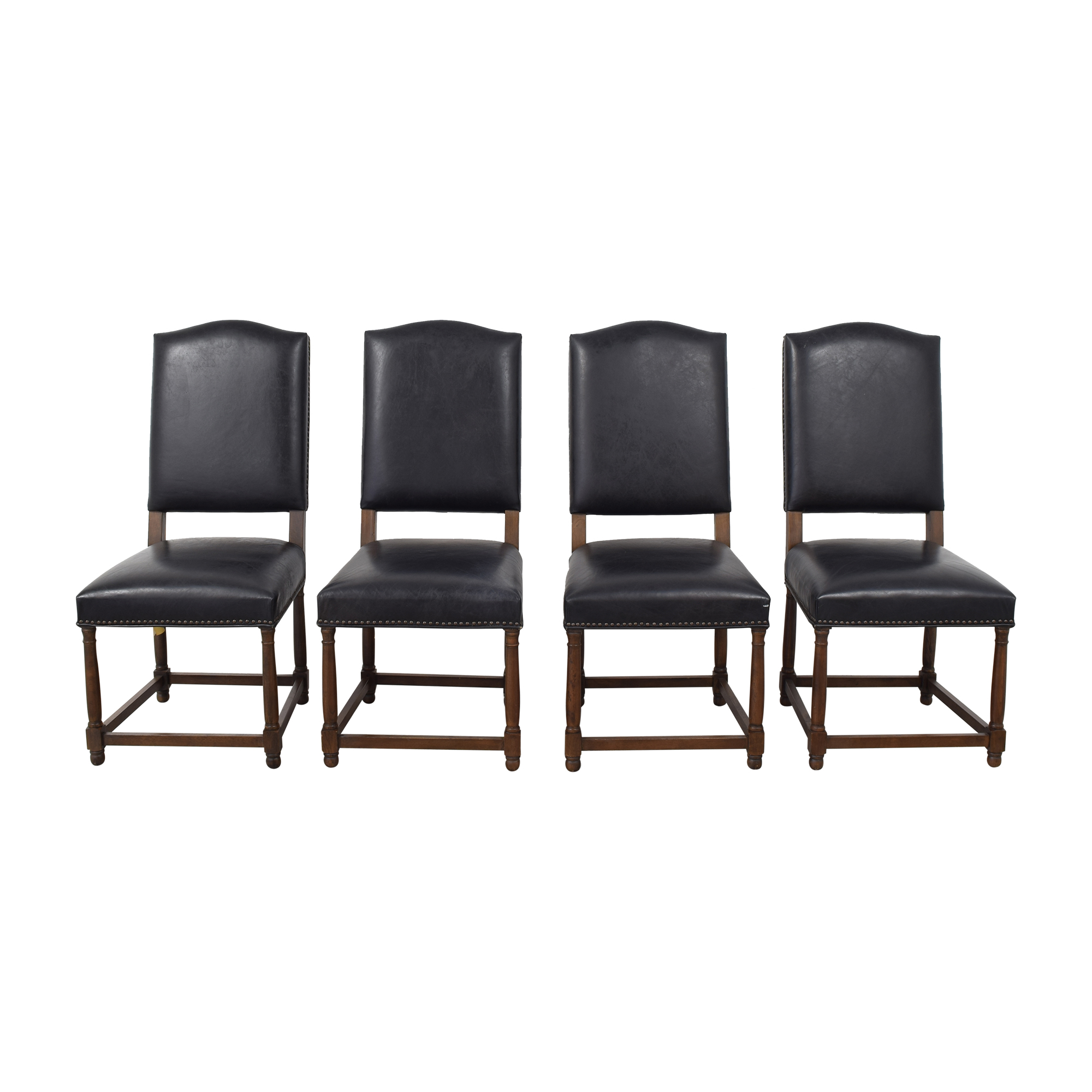 Restoration Hardware Restoration Hardware Empire Camelback Dining Side Chairs Black