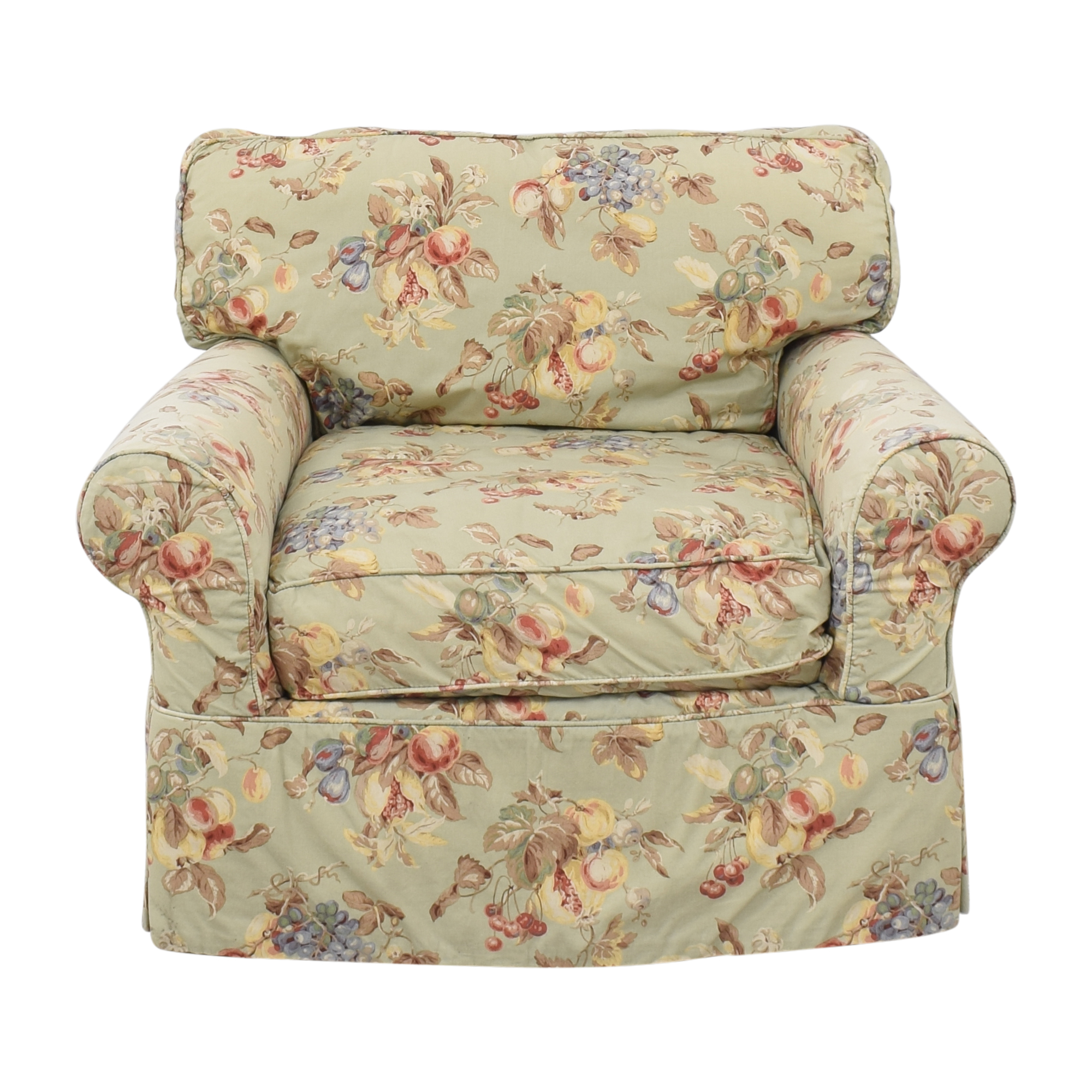 Crate & Barrel Crate & Barrel Floral Slipcovered Chair on sale