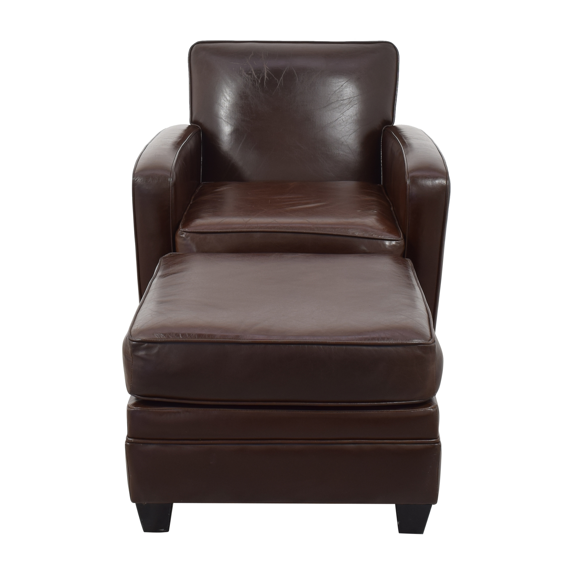 buy Square Arm Accent Chair with Ottoman  Chairs