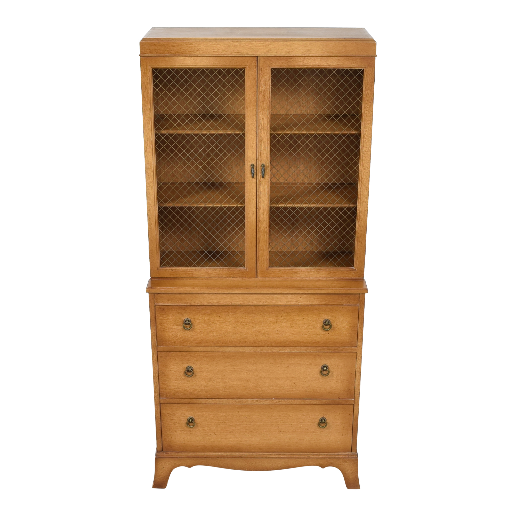 Three Drawer Dining Cabinet brown