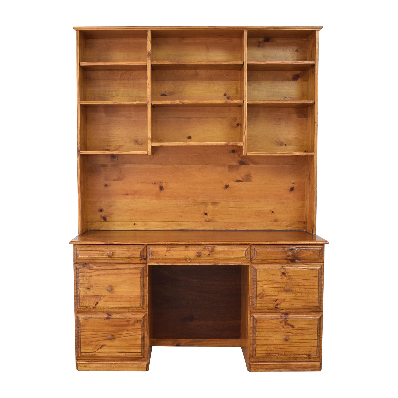 buy Gothic Cabinet Craft Gothic Cabinet Craft Riverdale Seven Drawer Desk with Hutch online