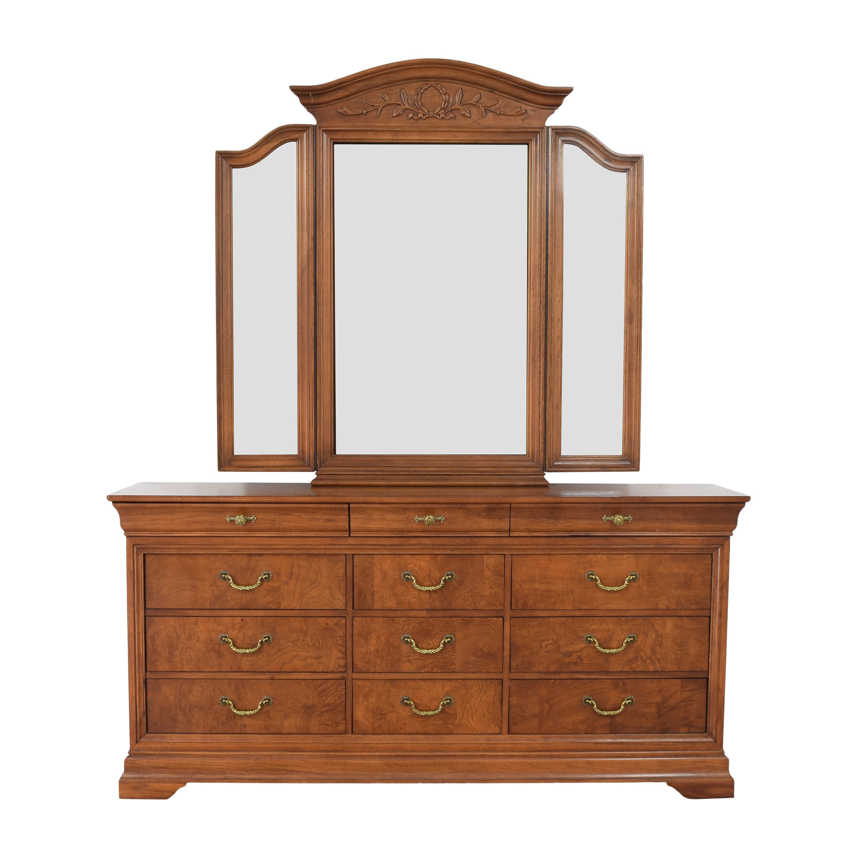 Thomasville Thomasville Triple Dresser with Mirror