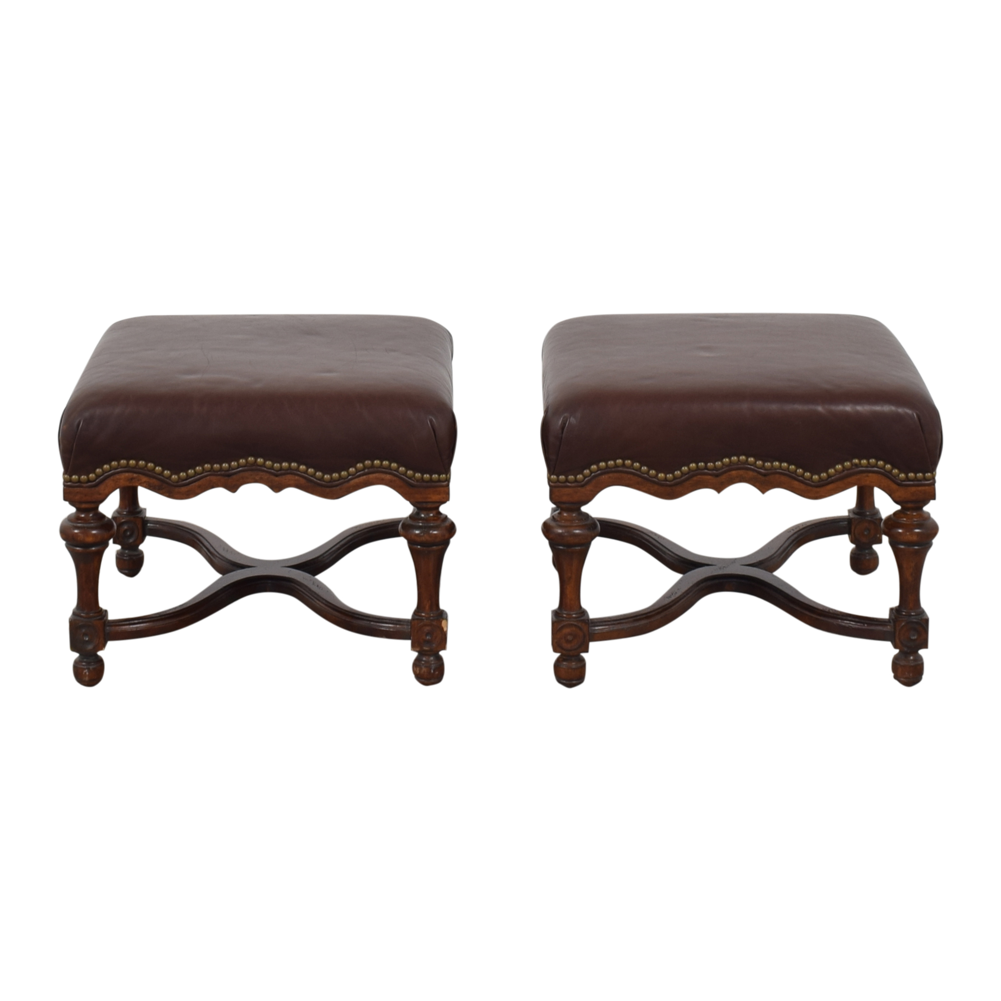 WHL Collections WHL Collections Nailhead Ottomans on sale