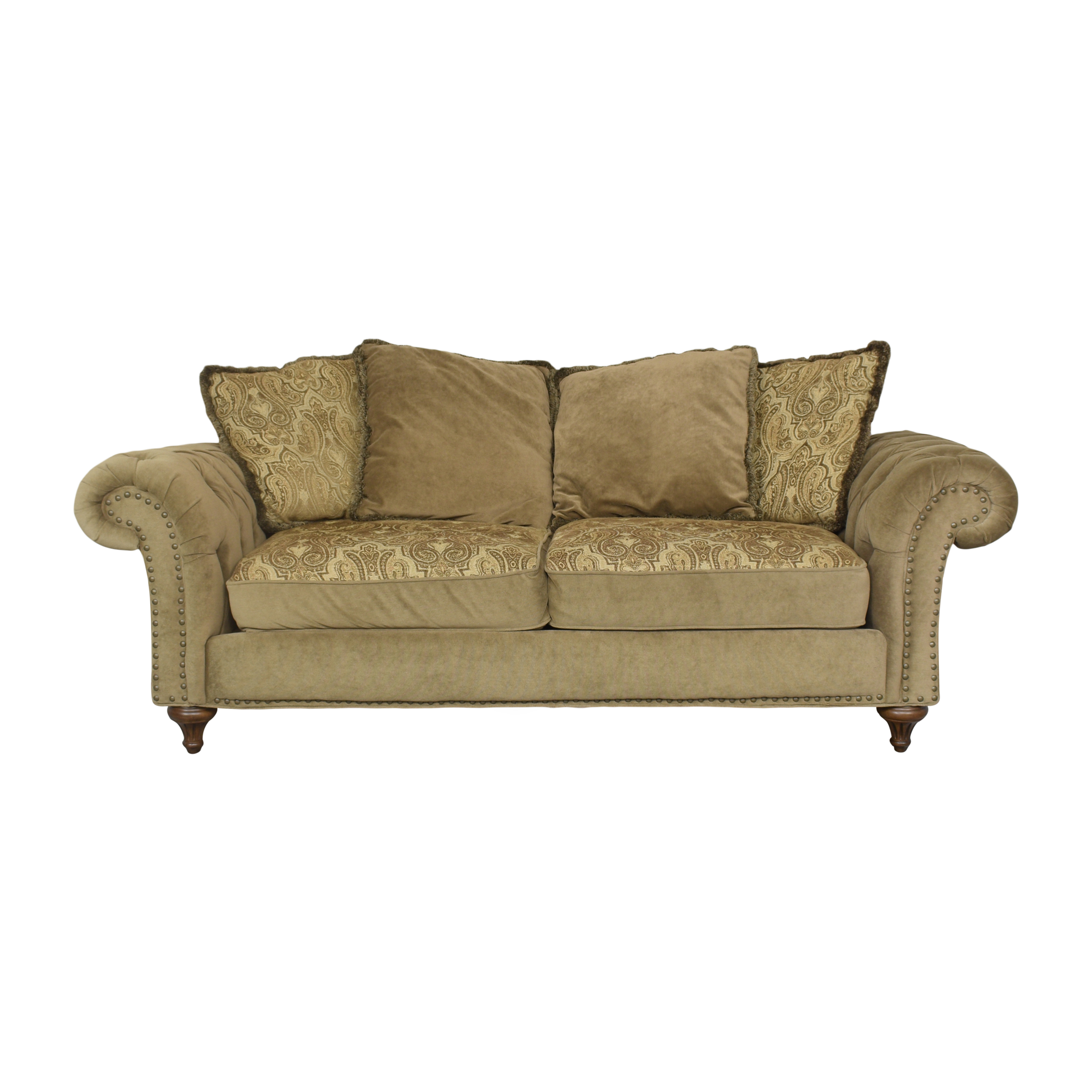 Fortunoff Fortunoff Two Cushion Roll Arm Sofa used