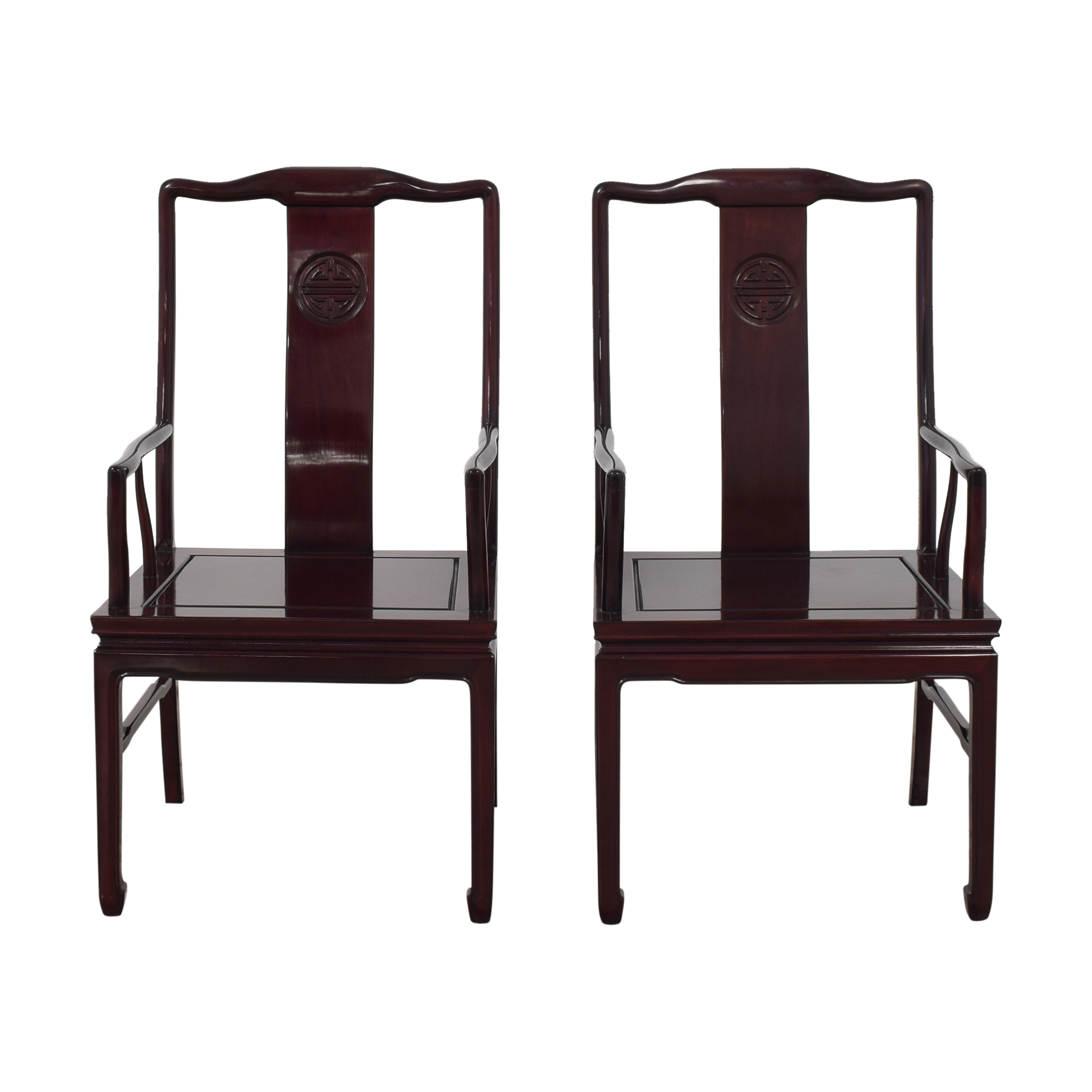 Rosewood Dining Arm Chairs dark brown