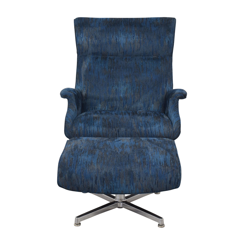 Room & Board Room & Board Beau Custom Swivel Chair with Ottoman price