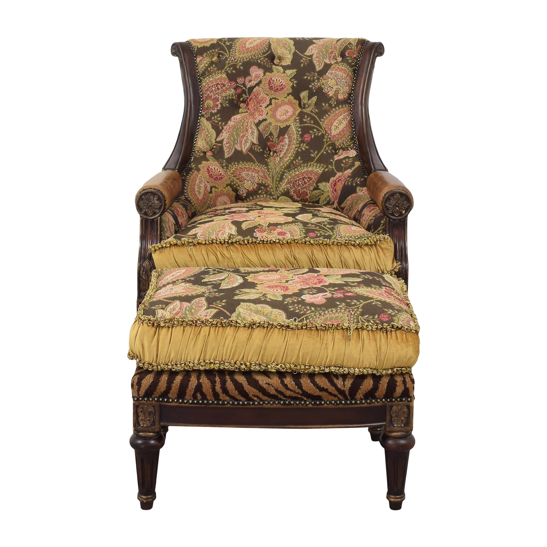Jardine Enterprises Jardine Enterprises Accent Chair with Ottoman Accent Chairs