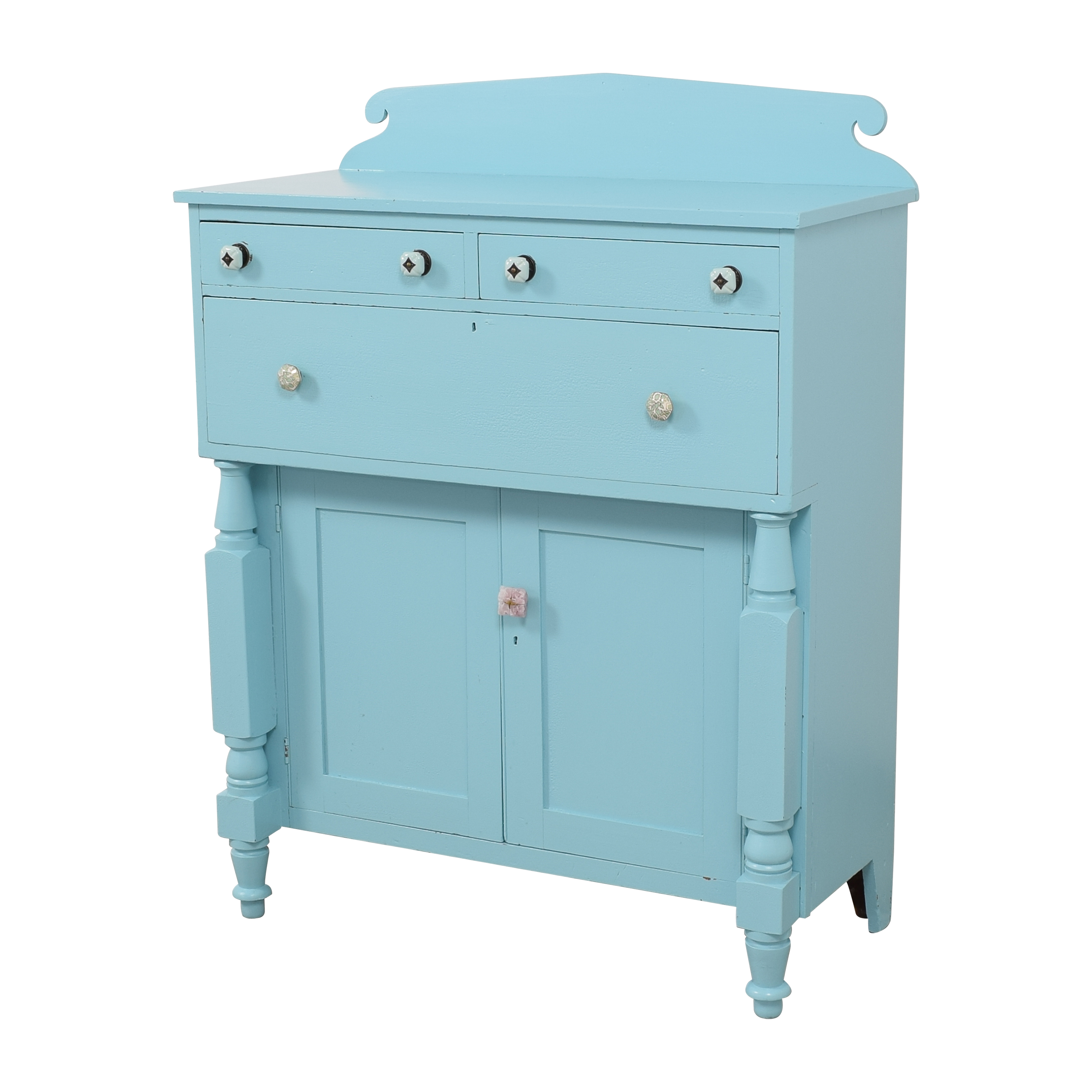 Painted Two Door Storage Cabinet Cabinets & Sideboards