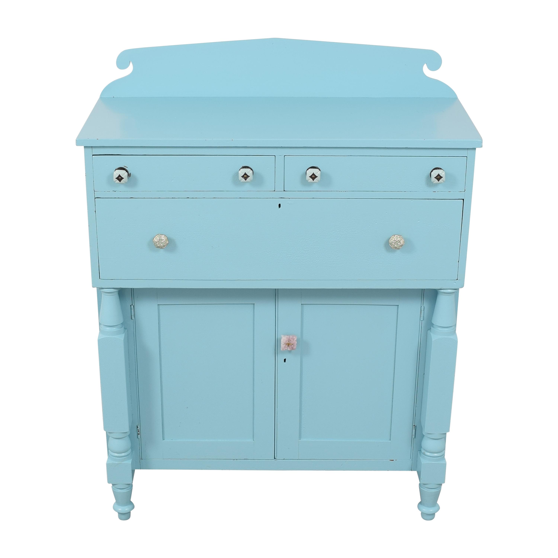 Painted Two Door Storage Cabinet blue