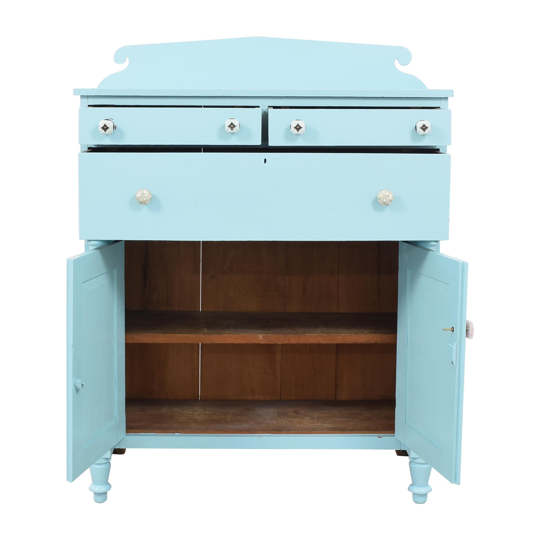 Painted Two Door Storage Cabinet price