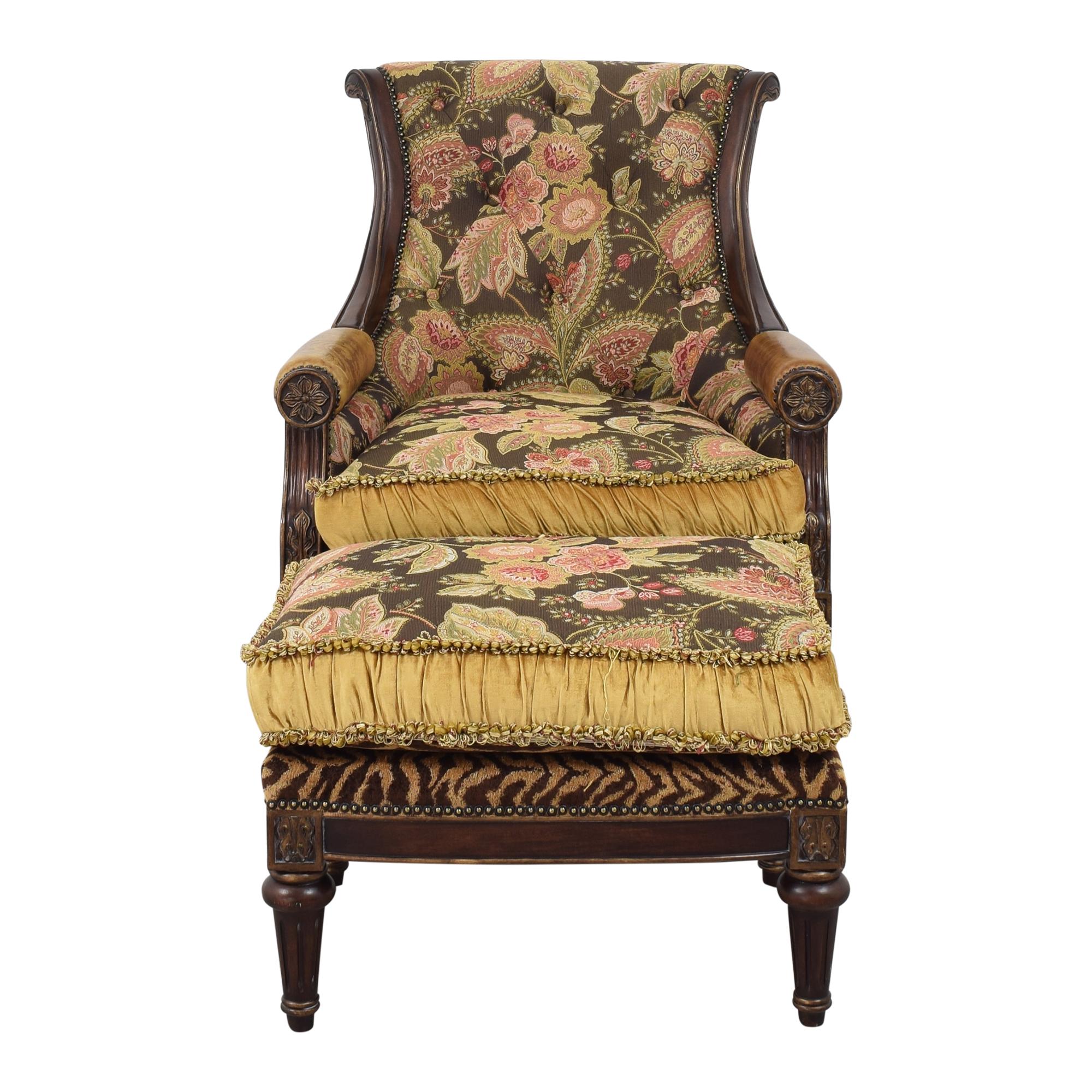 Jardine Enterprises Furniture Chair and Ottoman sale