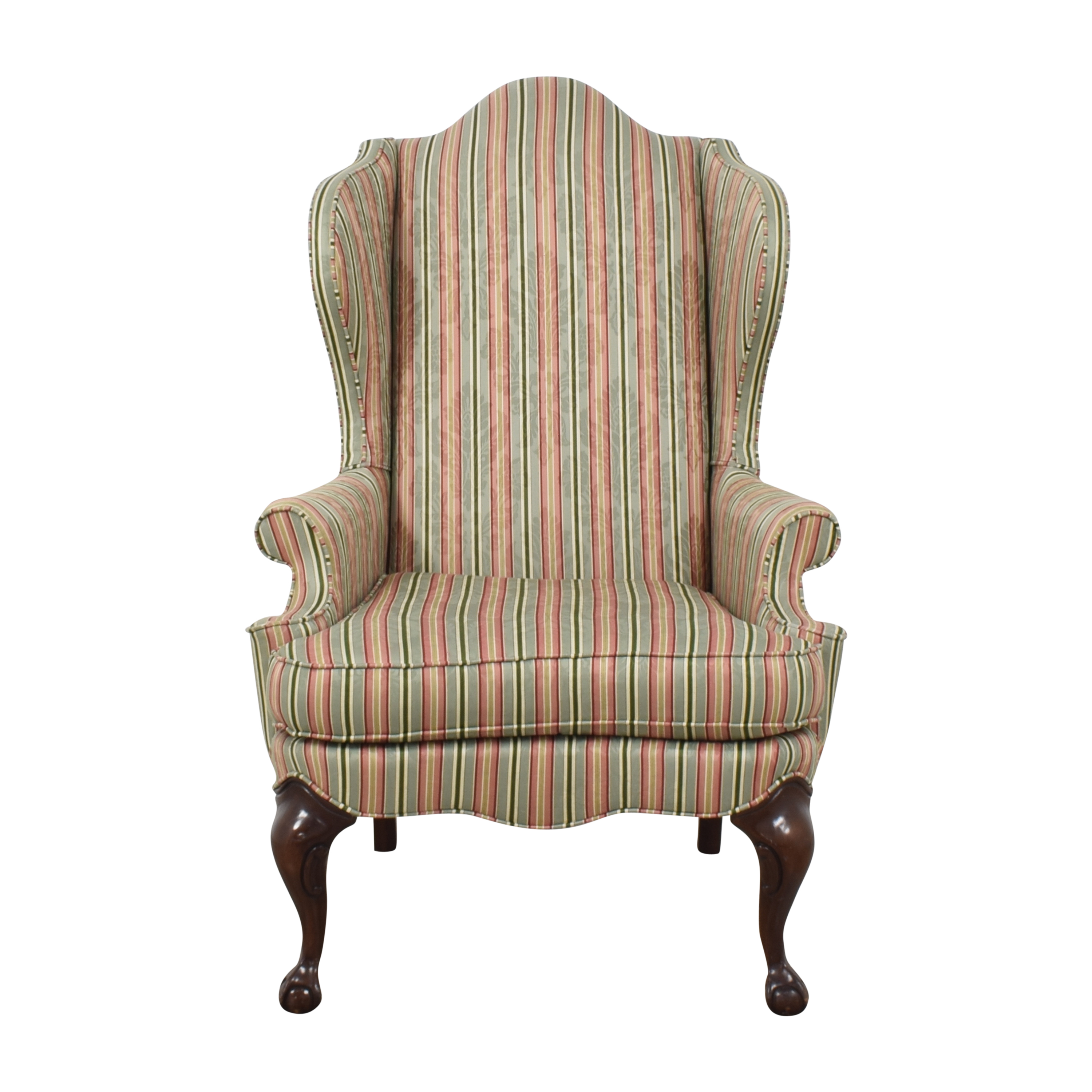 shop Striped Wing Back Chair