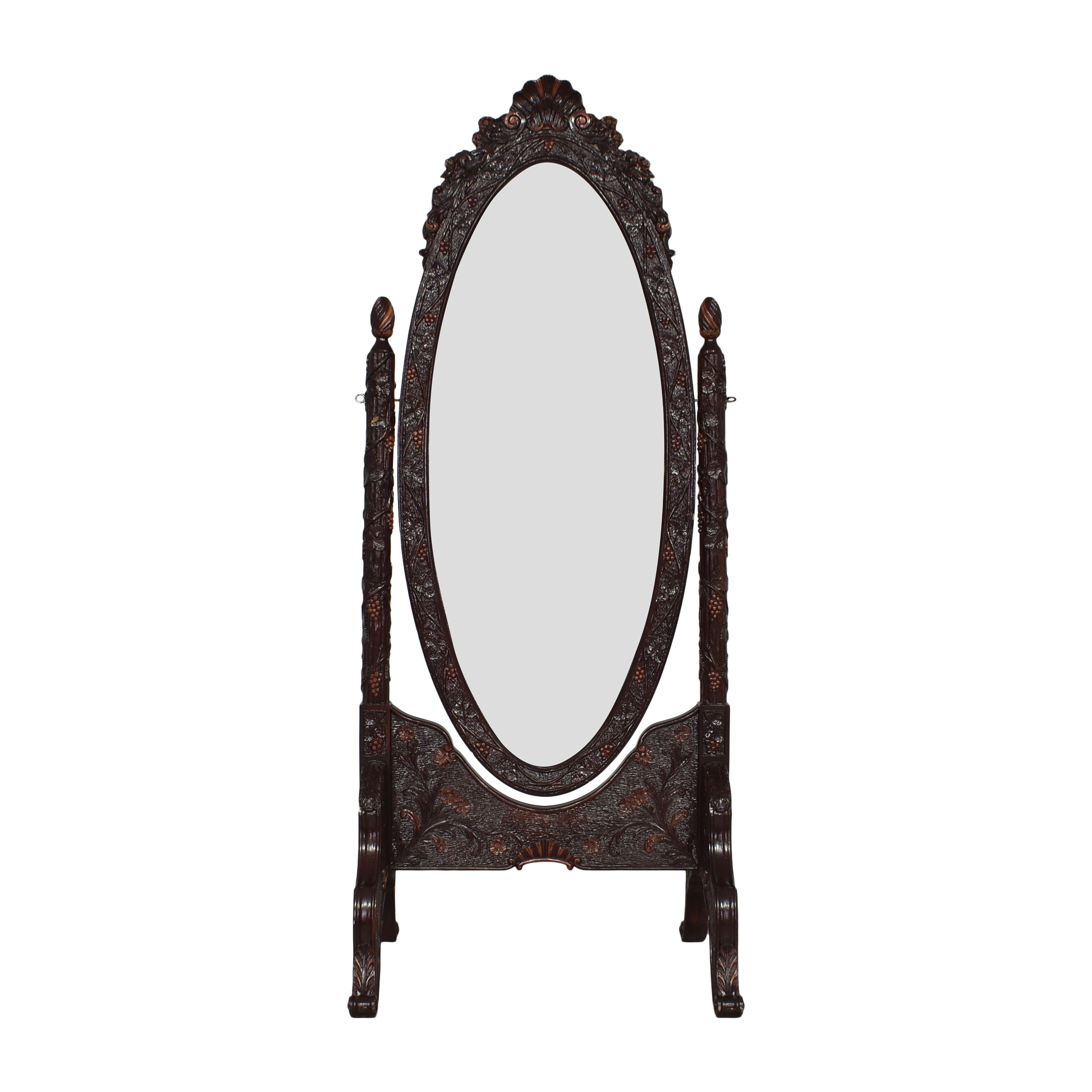 Decorative Oval Standing Mirror discount