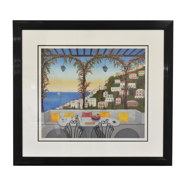 Fanch Ledan Amalfi Coast Framed Wall Art on sale