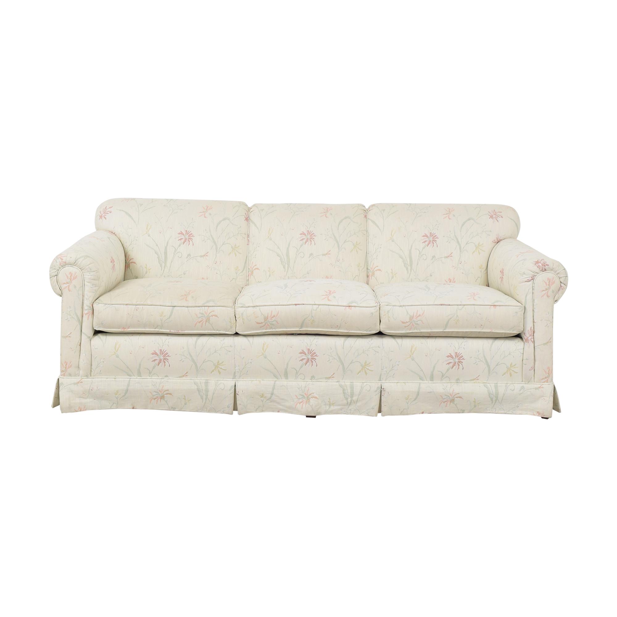 Ethan Allen Ethan Allen Rolled Arm Skirted Sofa Classic Sofas