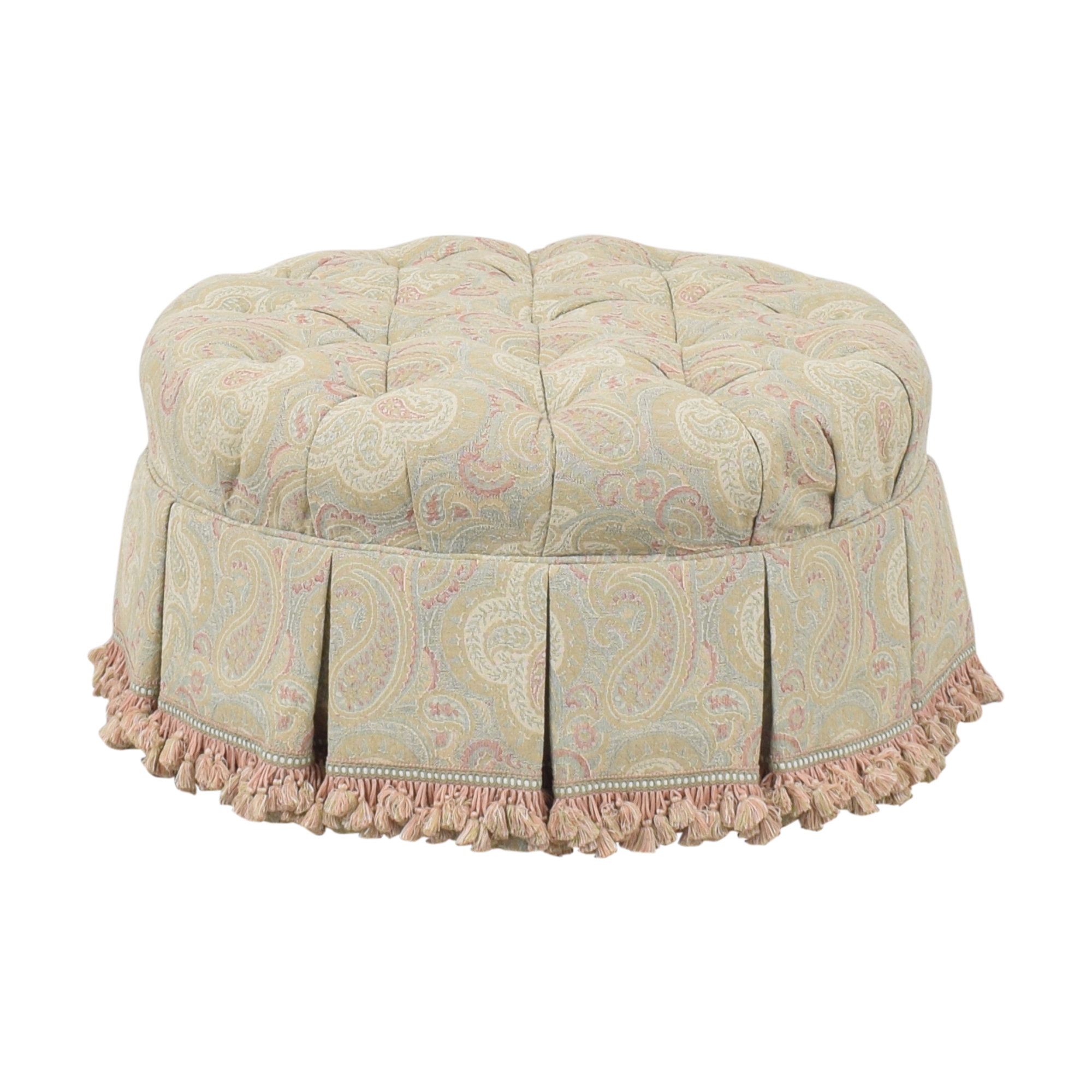 Century Tufted Round Ottoman / Chairs
