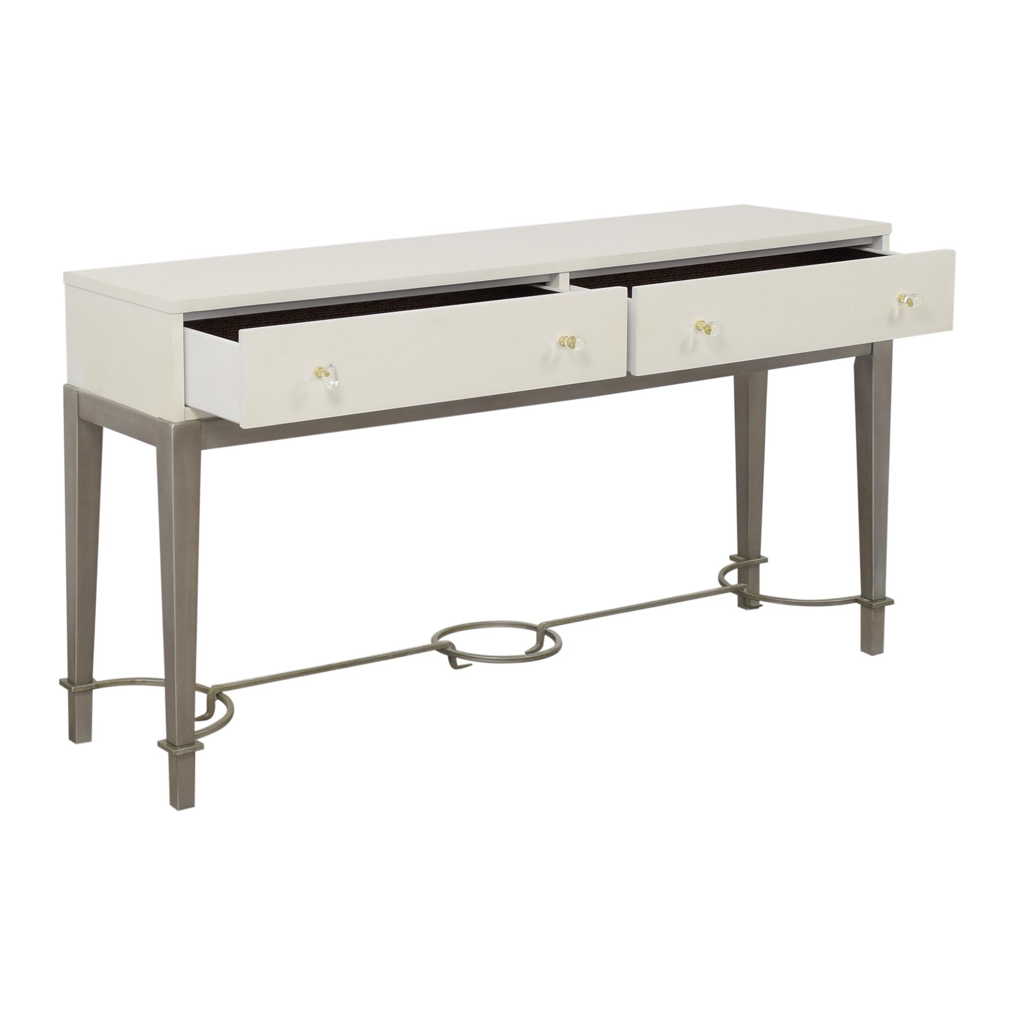 shop Hooker Furniture Melange Lady in White Console Table Hooker Furniture Tables