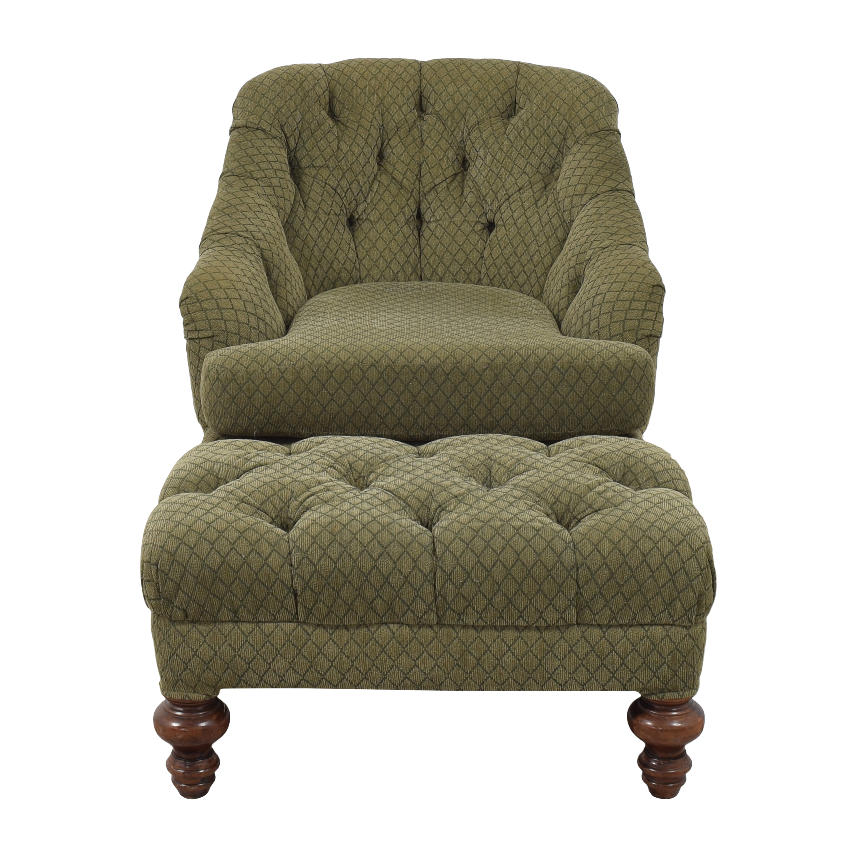 D R Kincaid Chair D R Kincaid Chair Tufted Chair and Ottoman discount