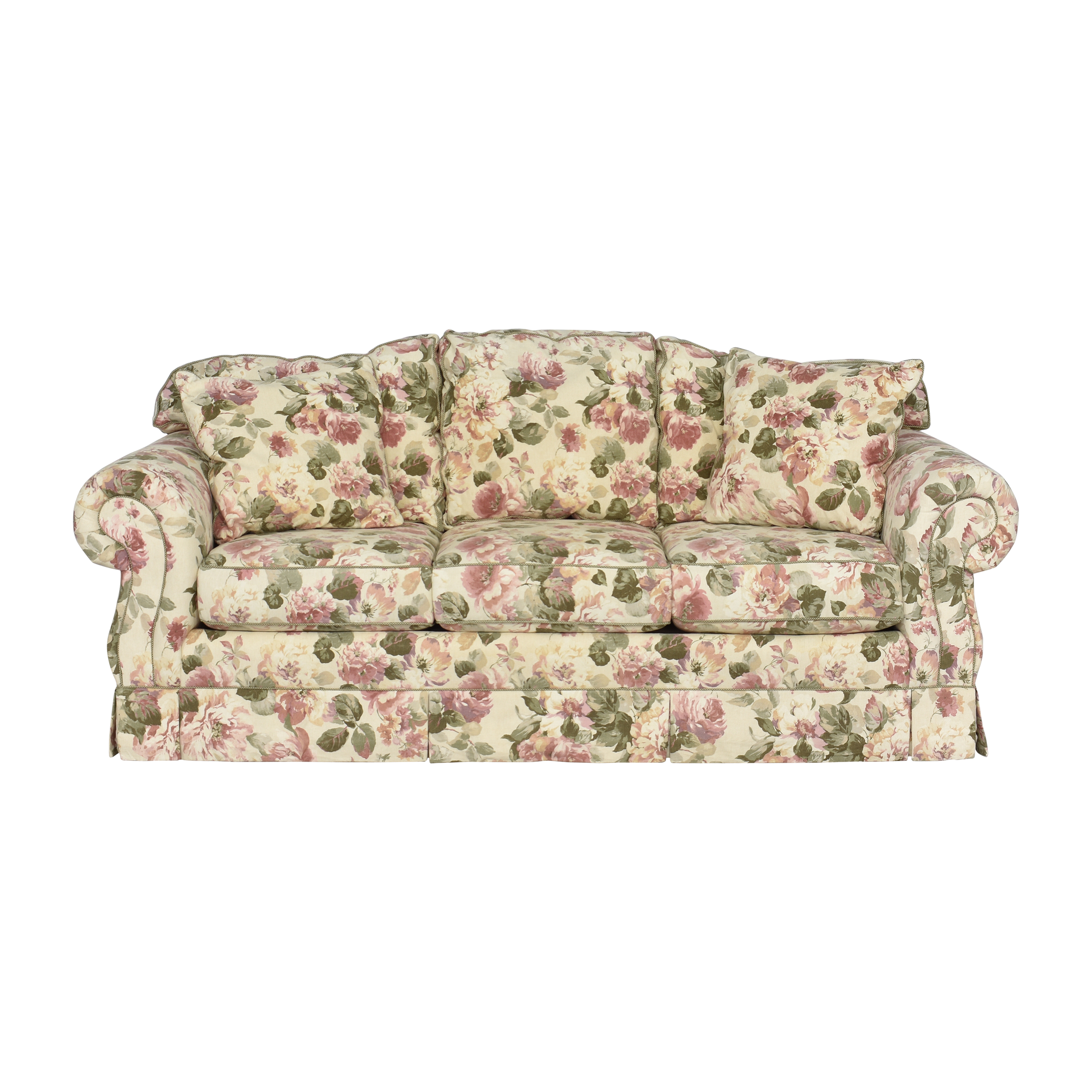 King Hickory King Hickory Roll Arm Sofa dimensions