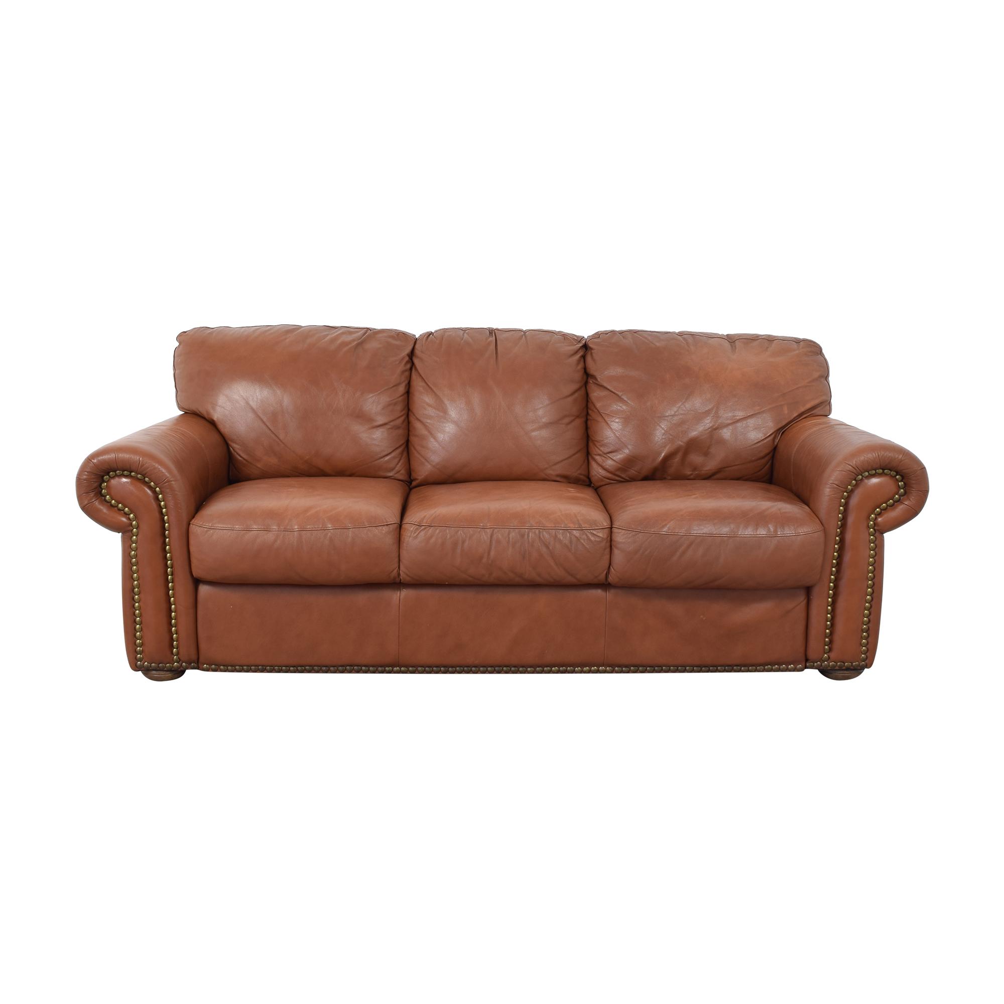 shop Bloomingdale's Bloomingdale's Three Cushion Nailhead Sofa online