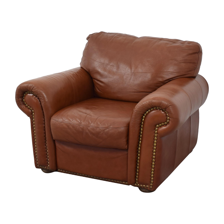 buy Bloomingdale's Roll Arm Nailhead Chair Bloomingdale's