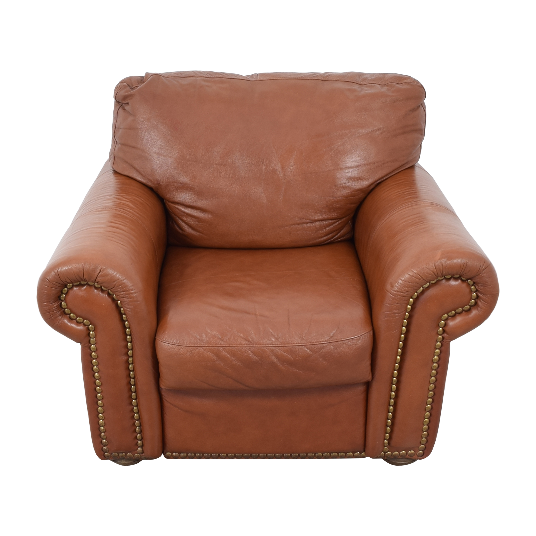 buy Bloomingdale's Roll Arm Nailhead Chair Bloomingdale's Chairs