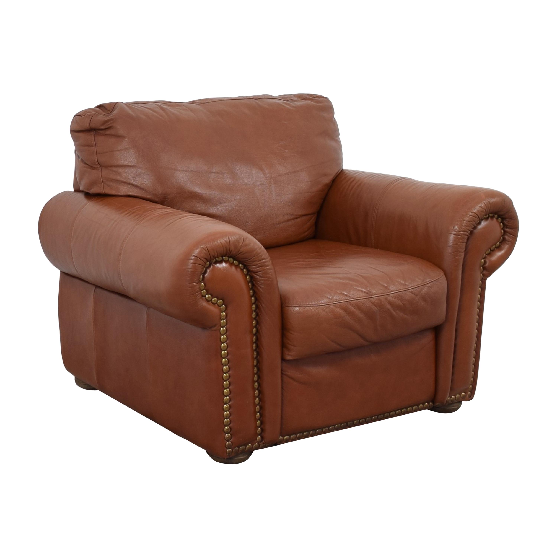 Bloomingdale's Bloomingdale's Roll Arm Nailhead Chair ma