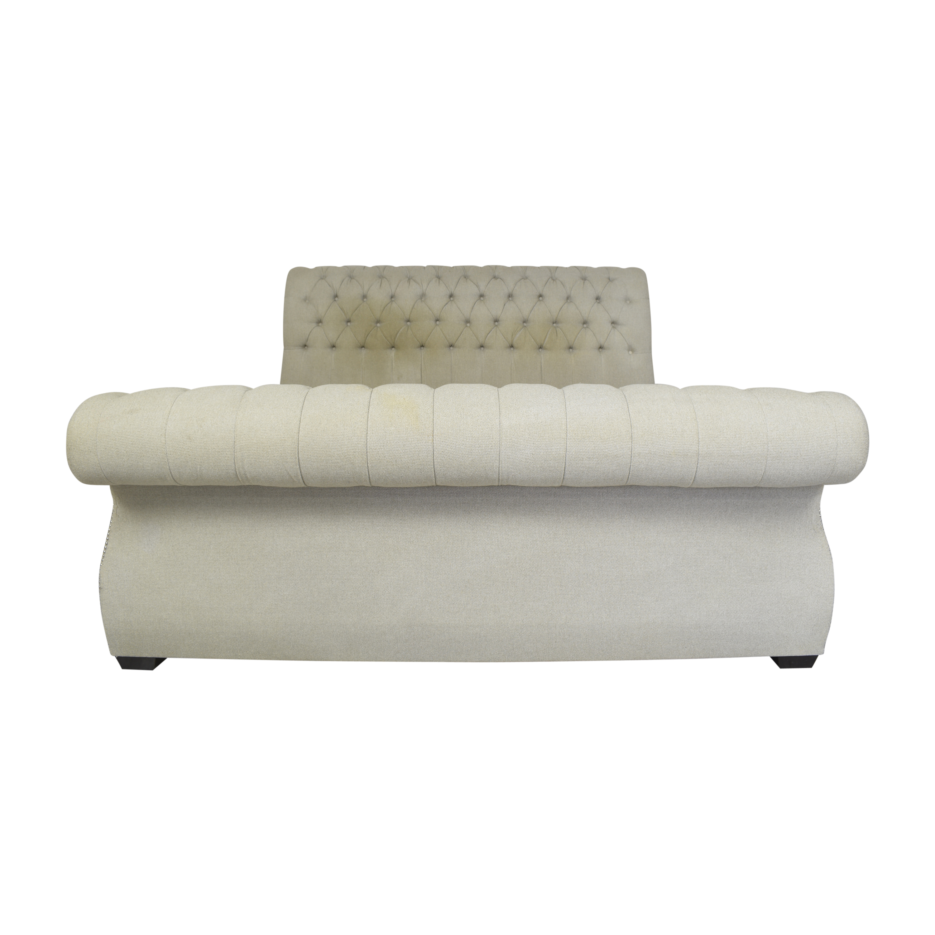 Macy's Macy's Tufted King Sleigh Bed dimensions