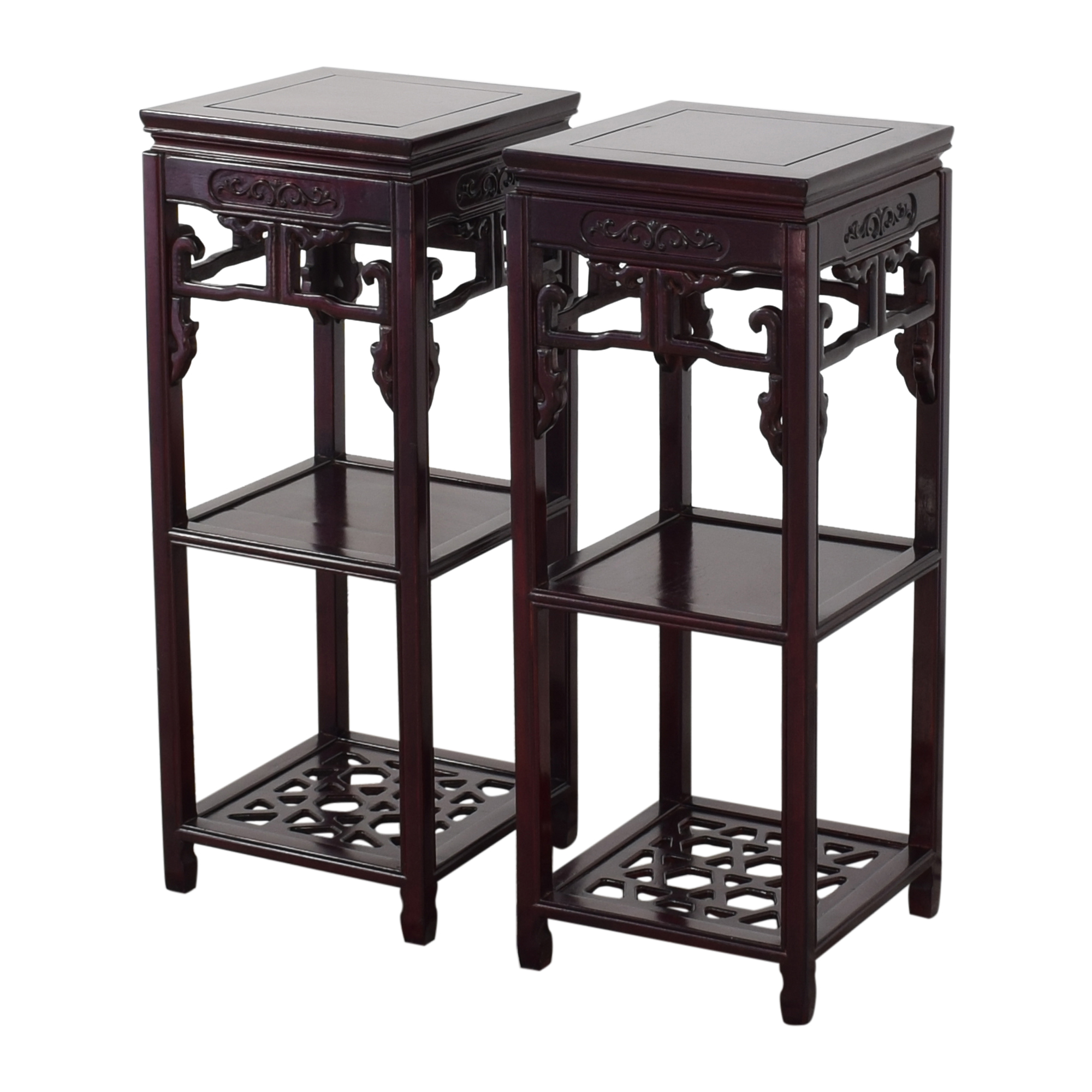 Carved Three Tier Plant Stands on sale