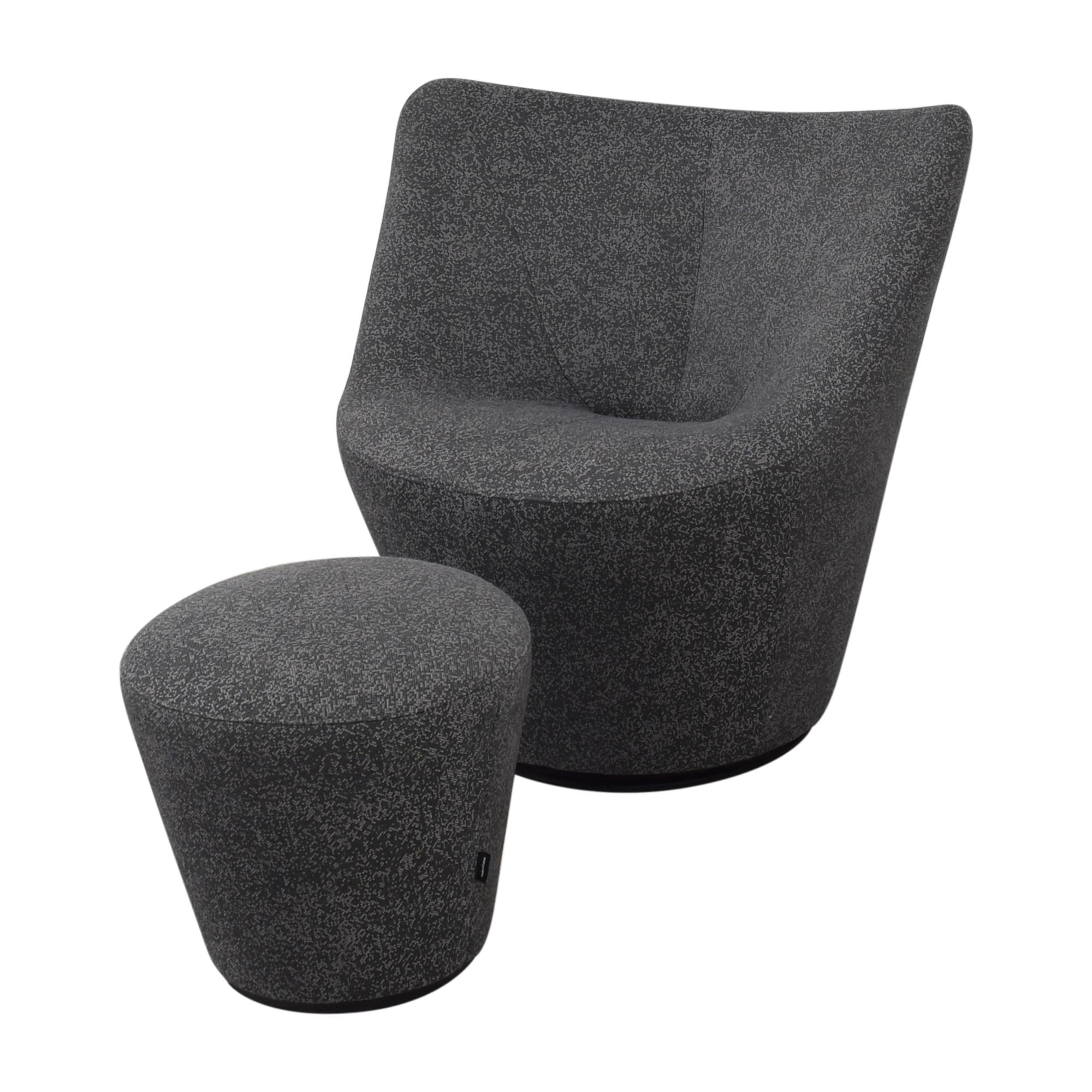 Ligne Roset Ligne Roset Anda Armchair with Ottoman Chairs