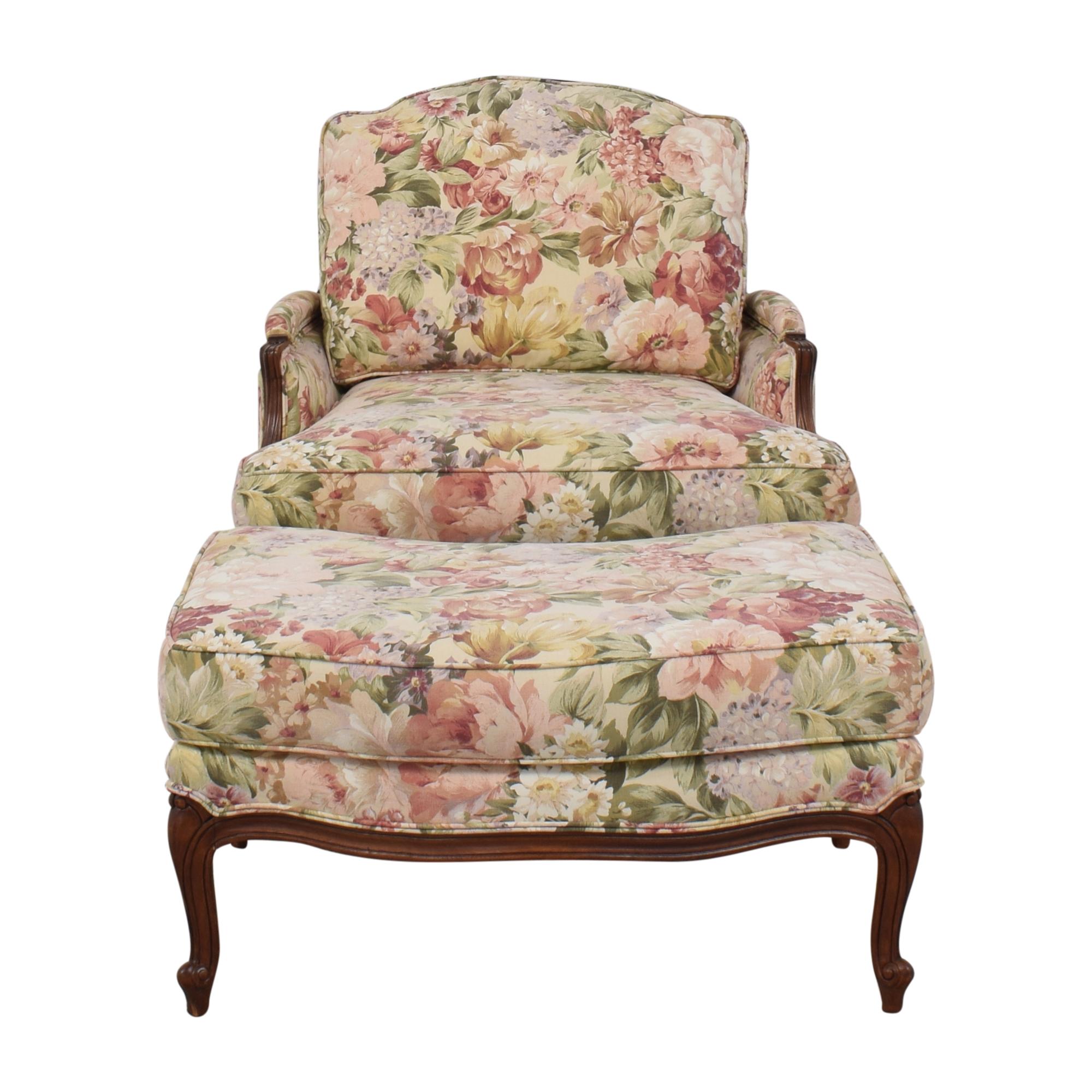 Ethan Allen Ethan Allen Versailles Chair with Ottoman price