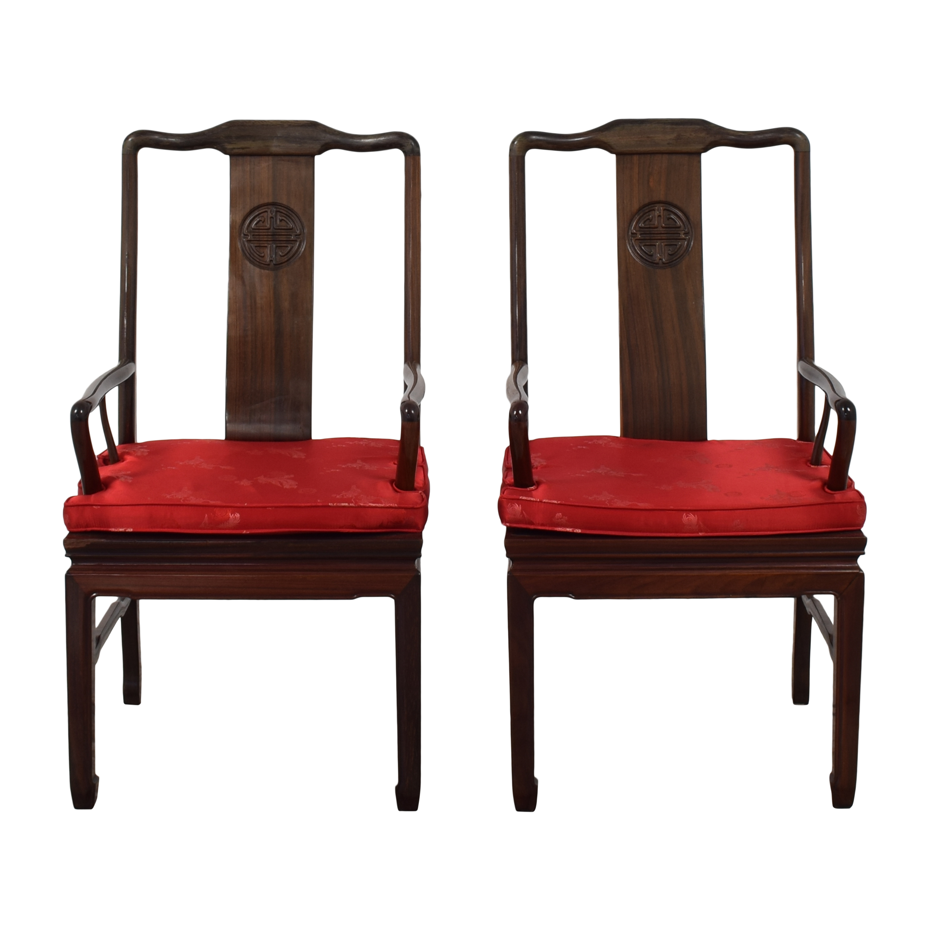 Chinoiserie Dining Arm Chairs used