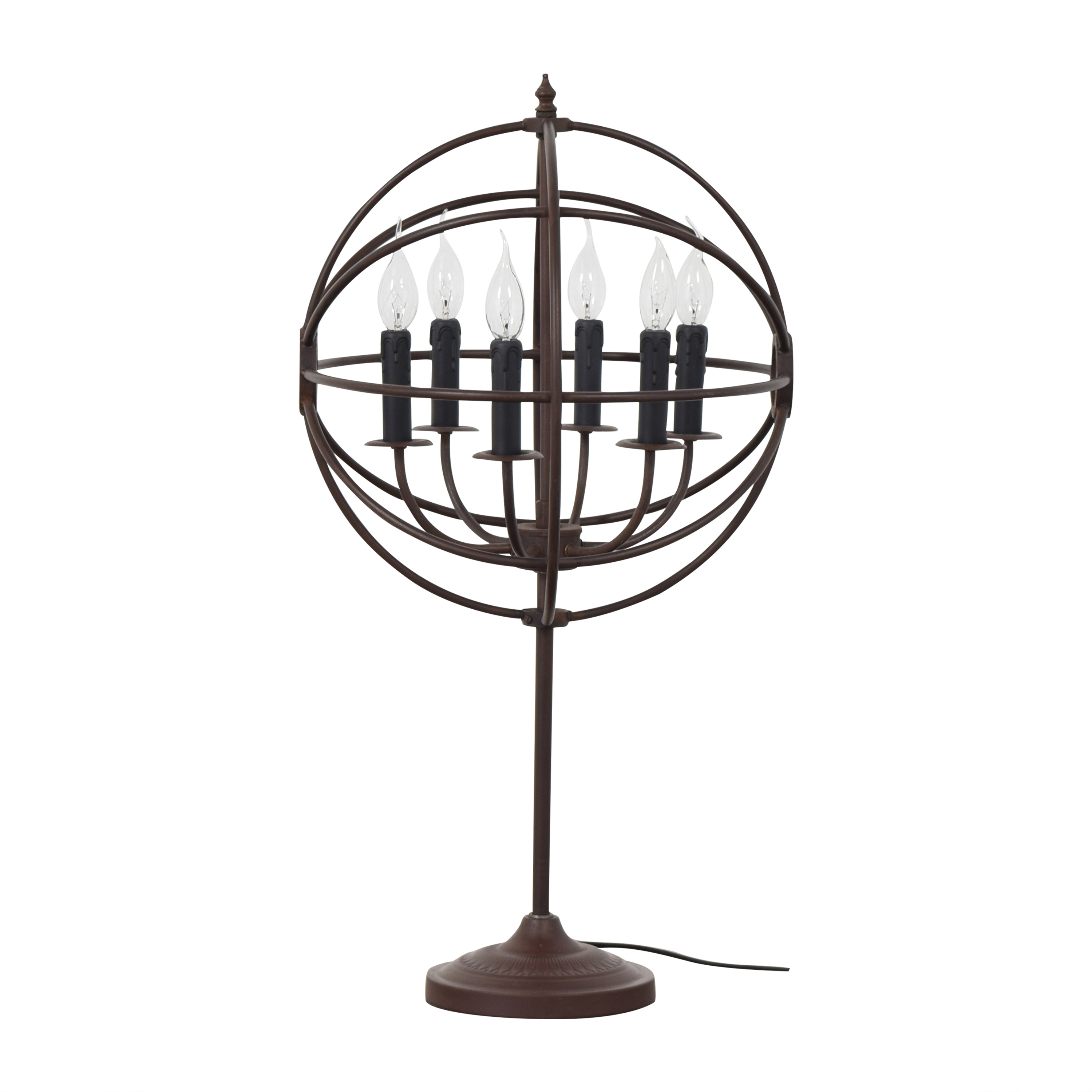 shop Industrial Orb Table Lamp