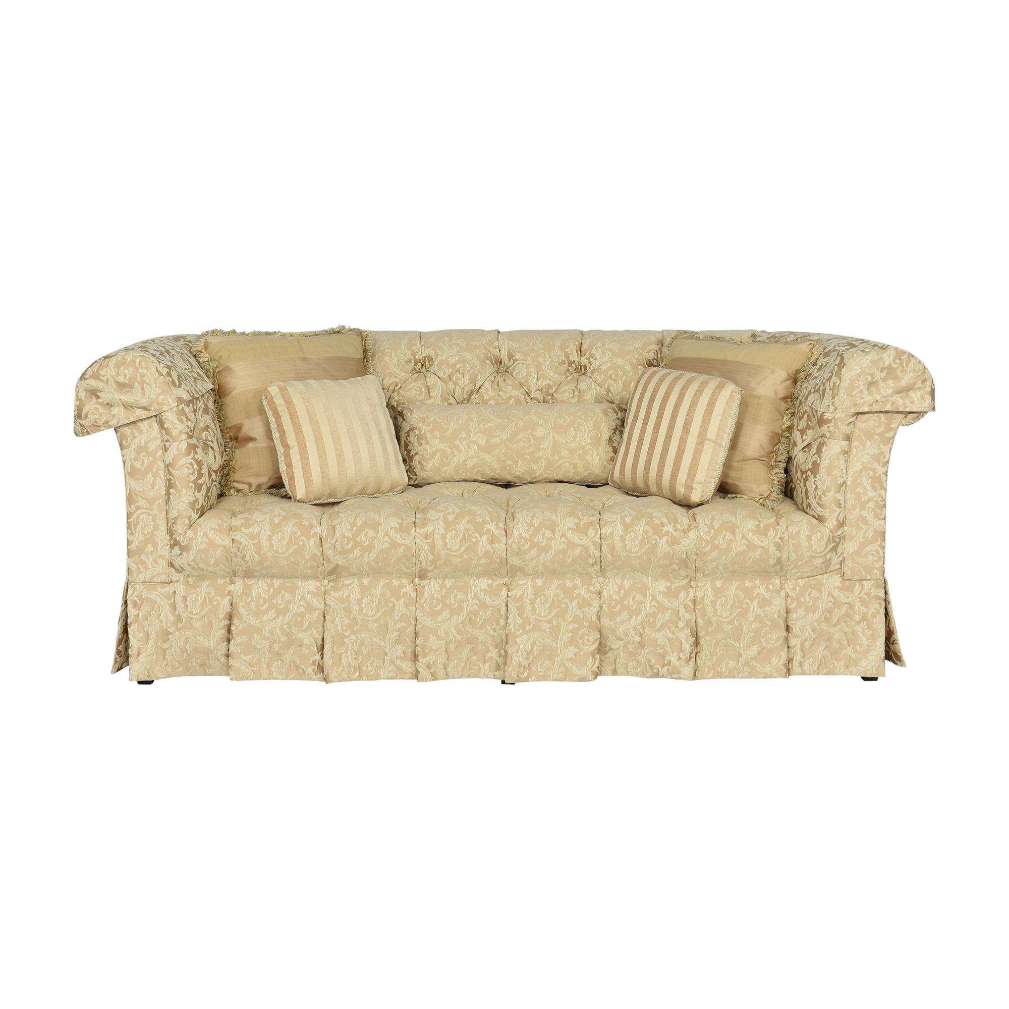 Custom Skirted Chesterfield Sofa discount