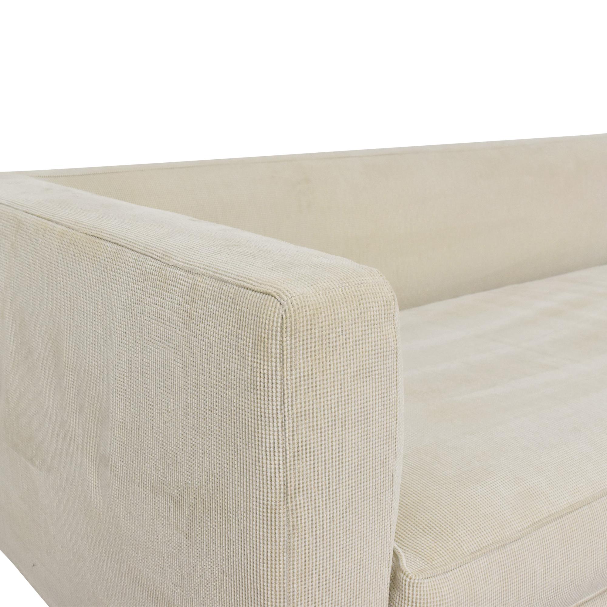Frigerio Modern Two Piece Sectional Sofa Frigerio