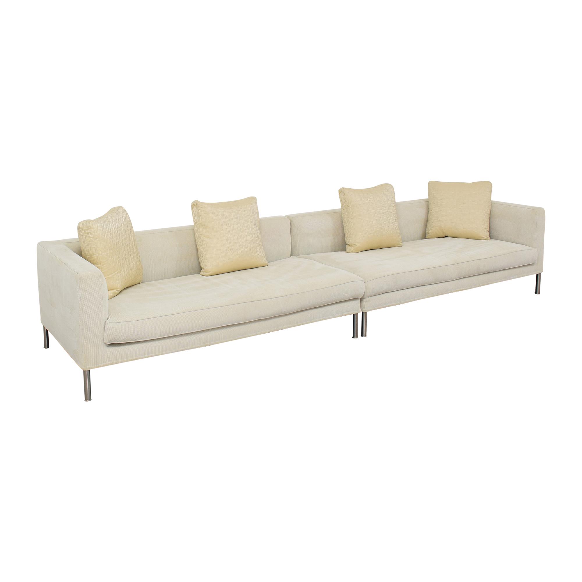 Frigerio Frigerio Modern Two Piece Sectional Sofa pa