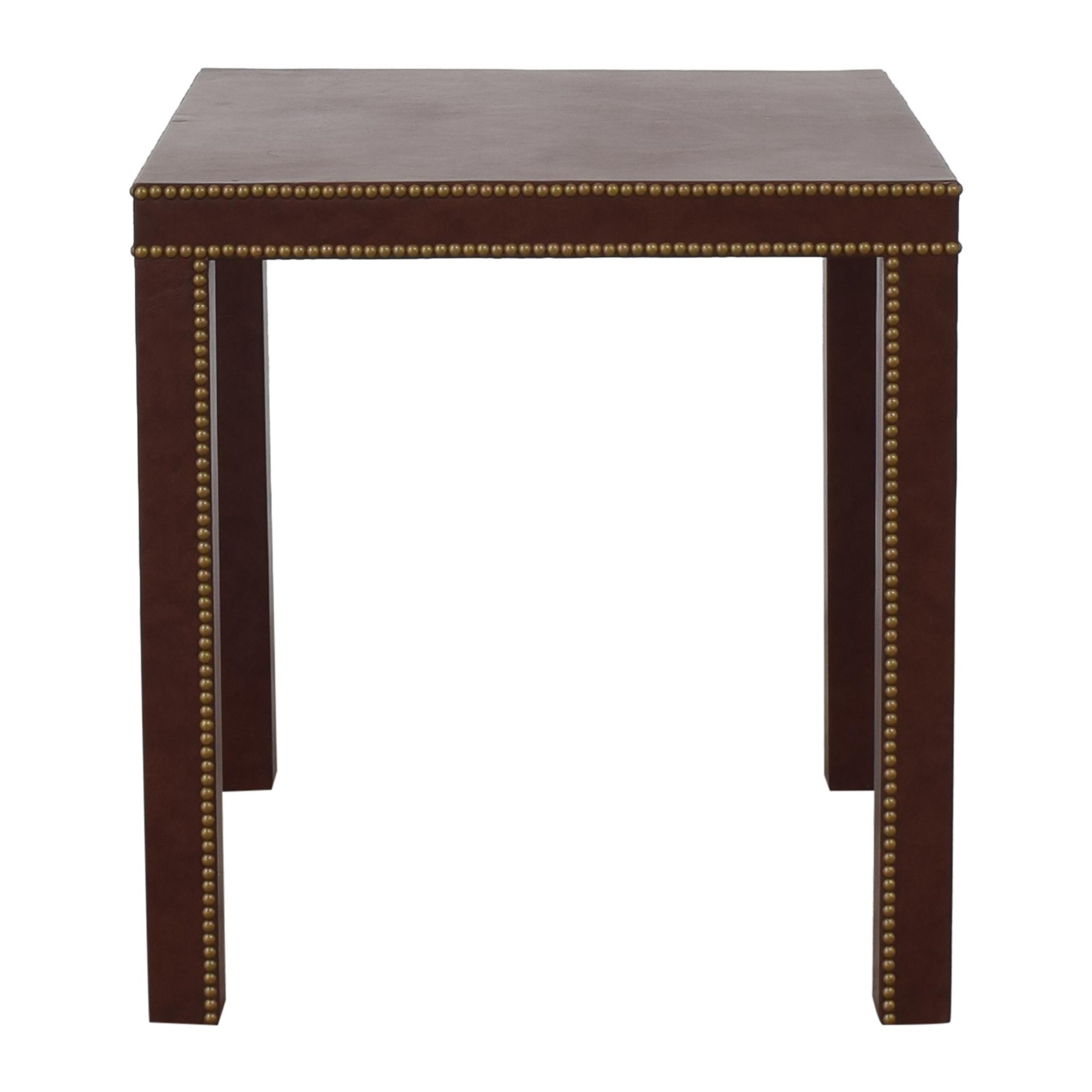 Custom Nailhead Trim End Table used
