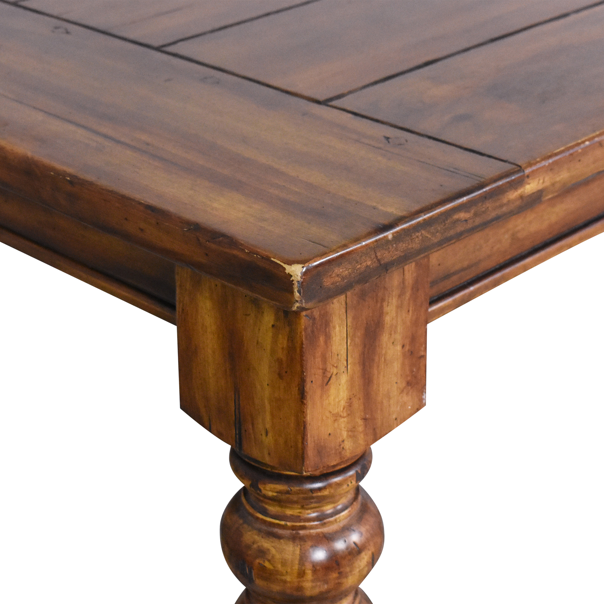 Rustic Extendable Dining Table brown