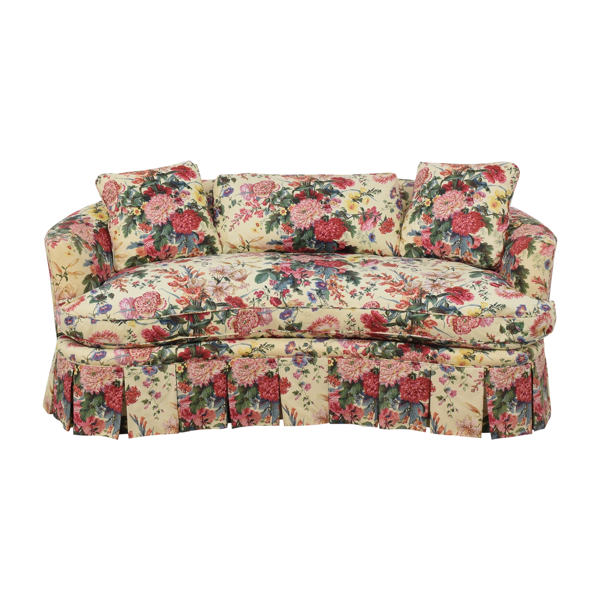 Floral Curved Sofa on sale