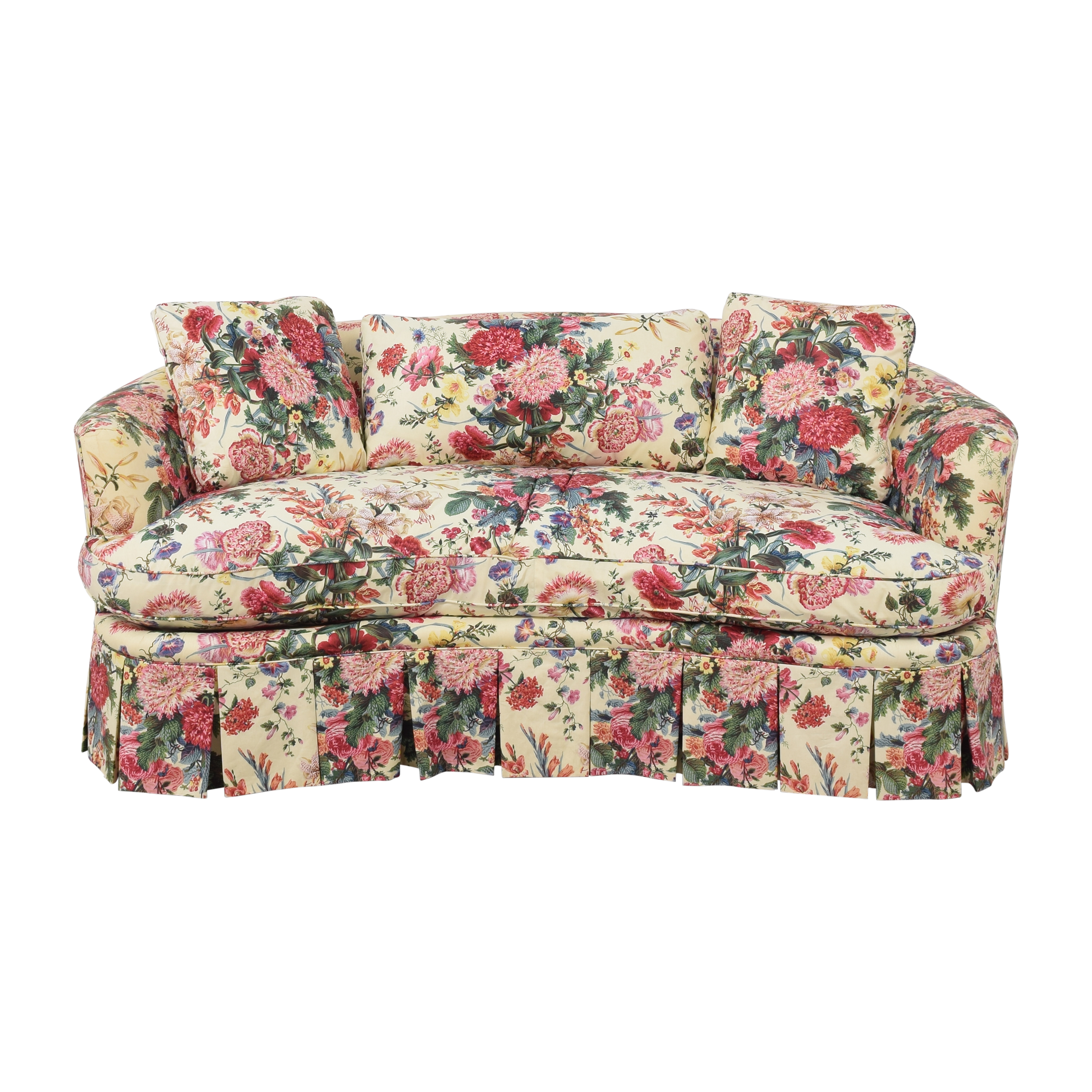 Floral Curved Sofa