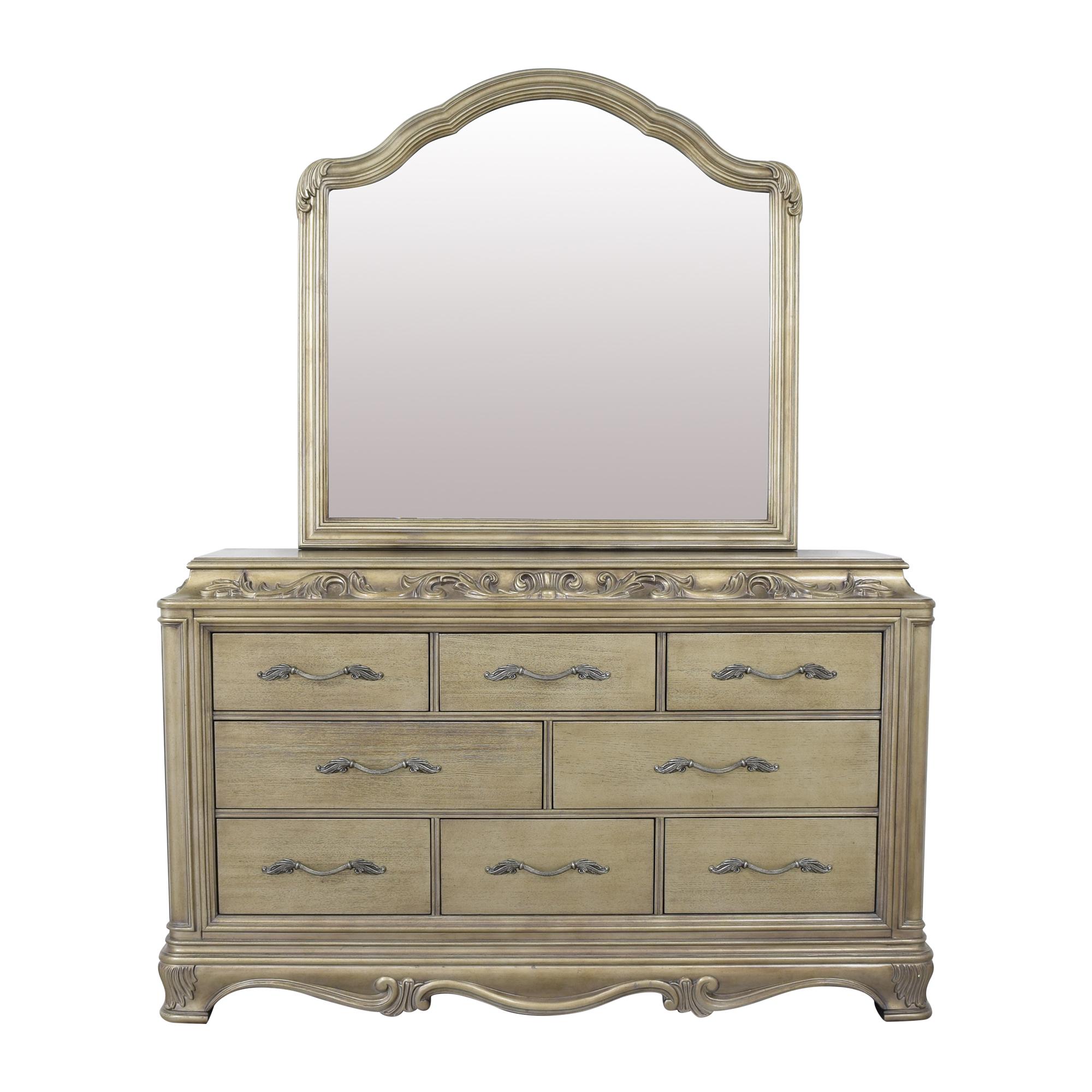 buy Macy's Macy's Zarina Eight Drawer Dresser with Mirror online