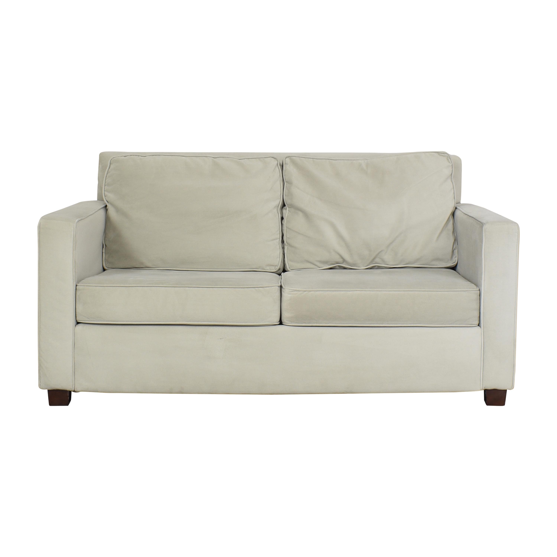 West Elm West Elm Henry Two Cushion Sofa light gray
