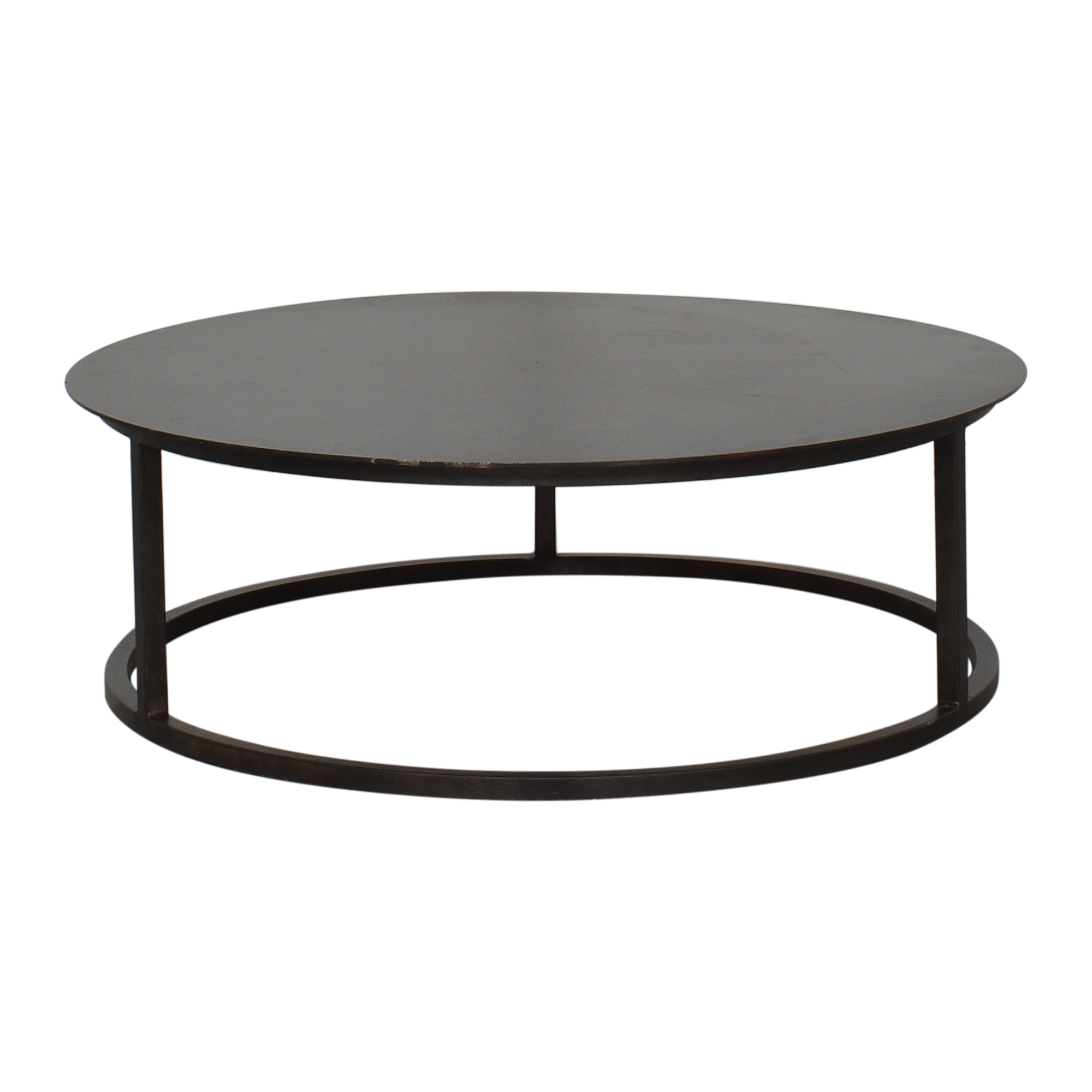 Restoration Hardware Mercer Round Coffee Table / Tables