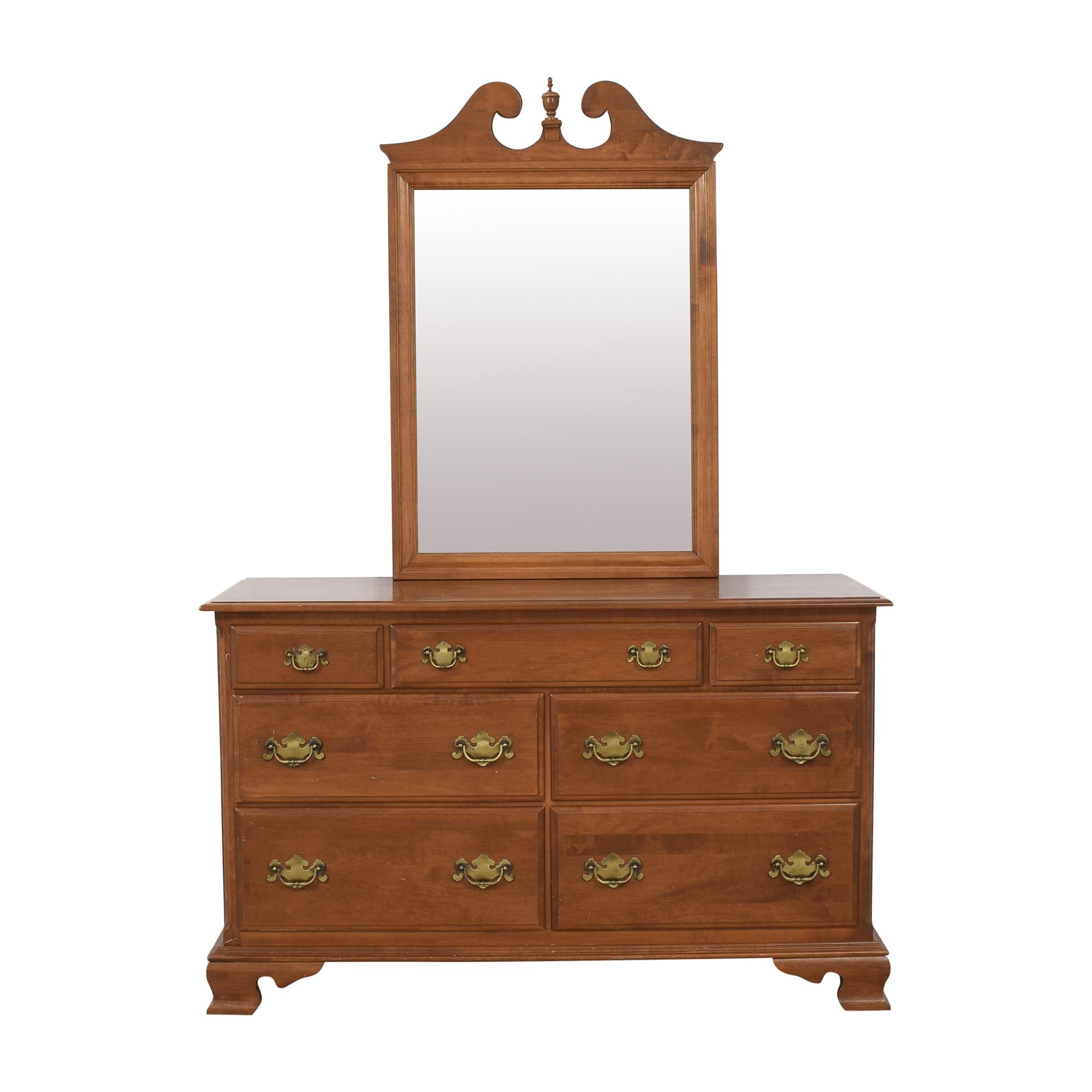 Ethan Allen Ethan Allen Seven Drawer Dresser with Mirror