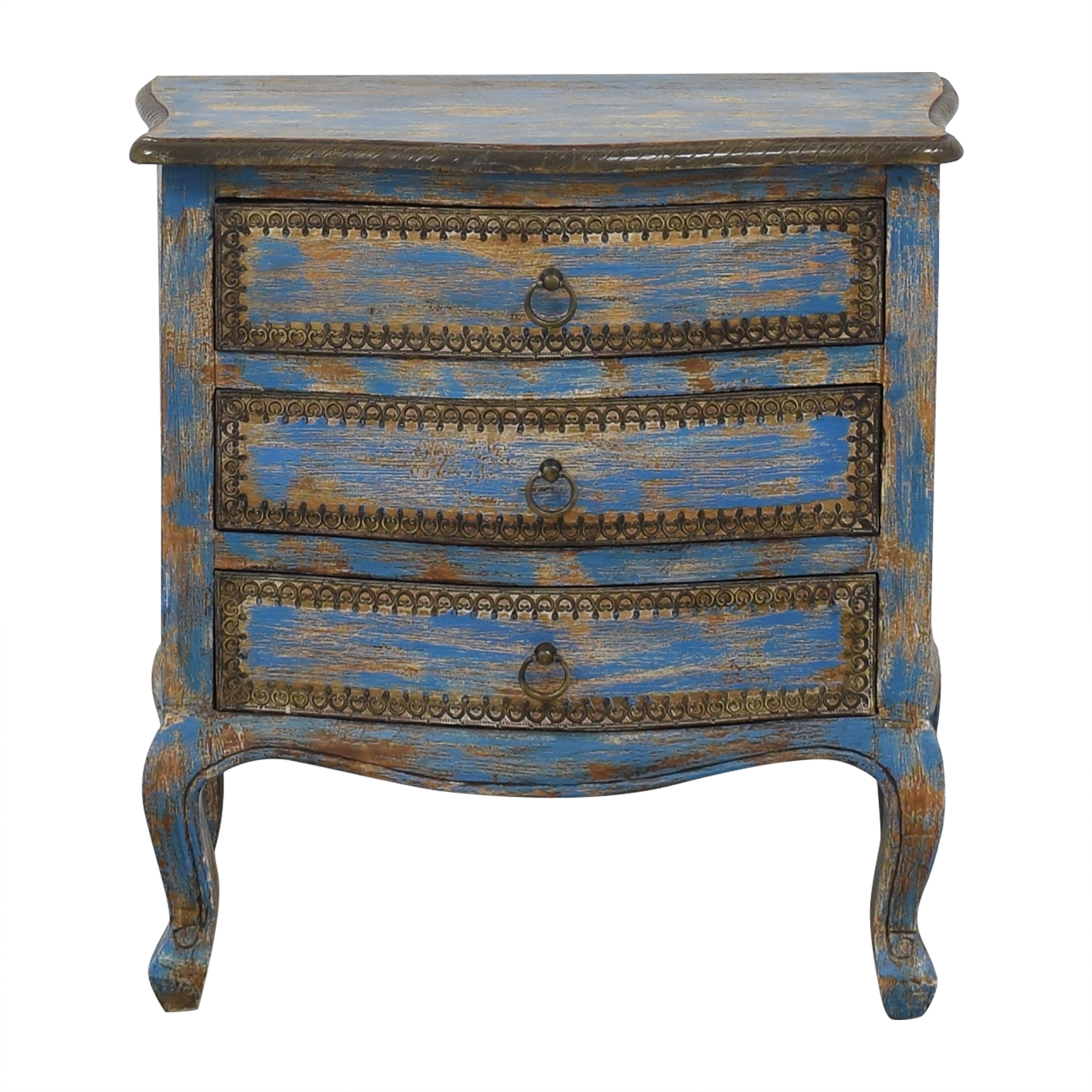 One Kings Lane One Kings Lane Three Drawer End Table second hand