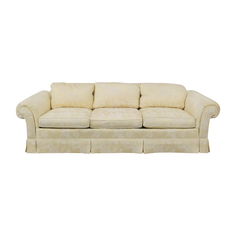 Drexel Heritage Drexel Heritage Roll Arm Skirted Sofa ma