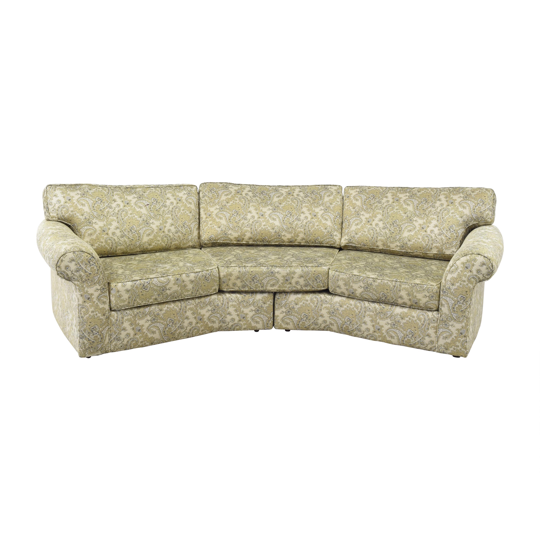 Carter Furniture Carter Furniture Floral Curved Sectional Sofa on sale