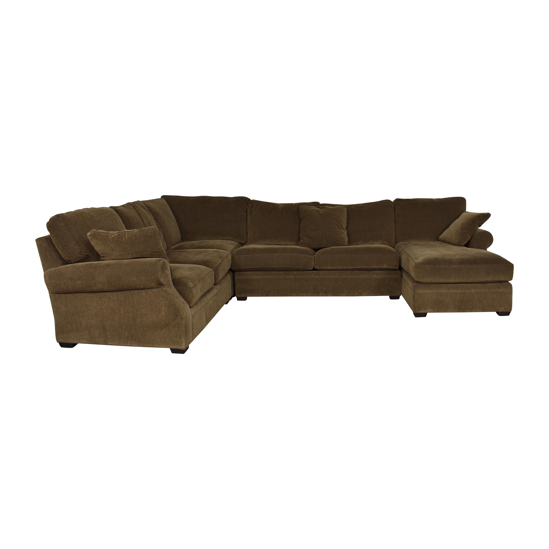shop Arhaus Landsbury Sleeper Sectional with Chaise Arhaus Sofas