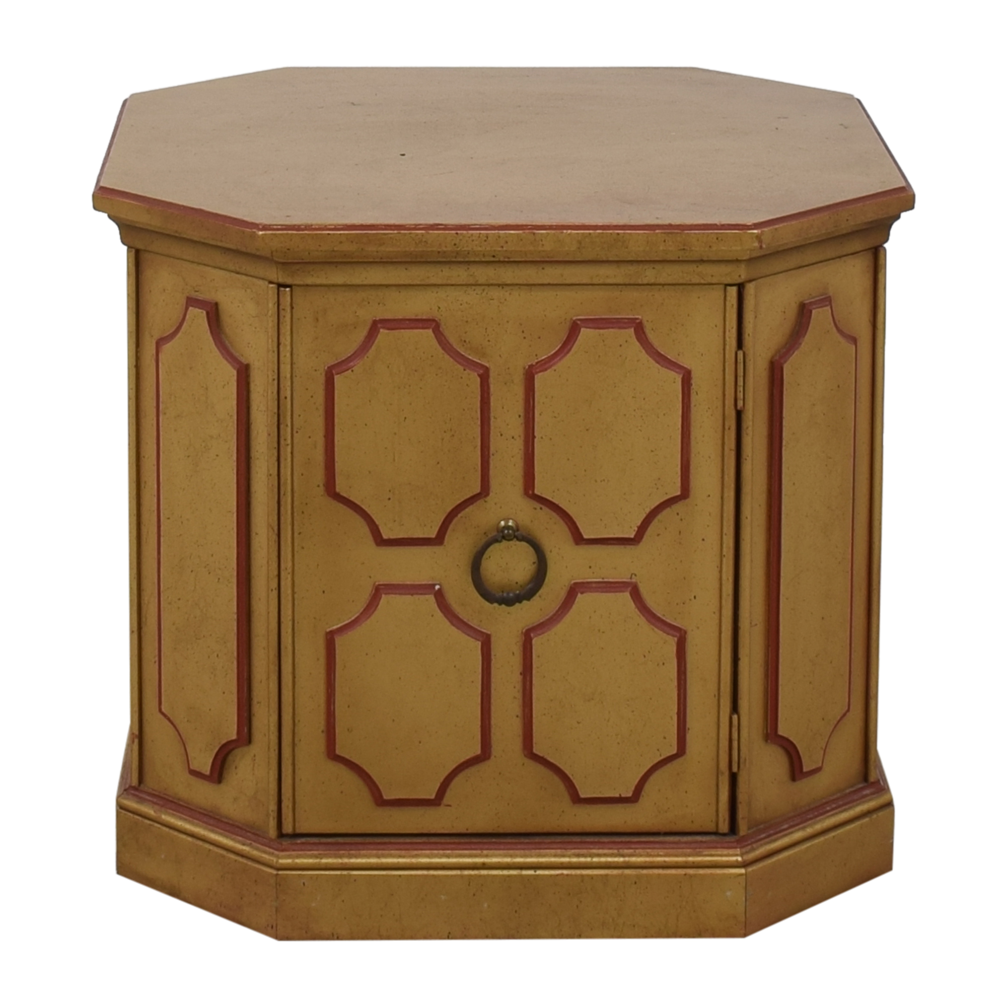 Octagonal Side Table with Cabinet / End Tables