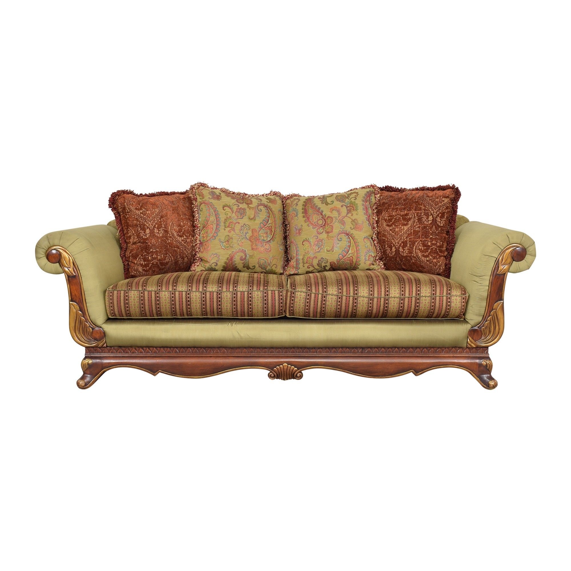 shop Raymour & Flanigan Roll Arm Sofa Raymour & Flanigan Classic Sofas